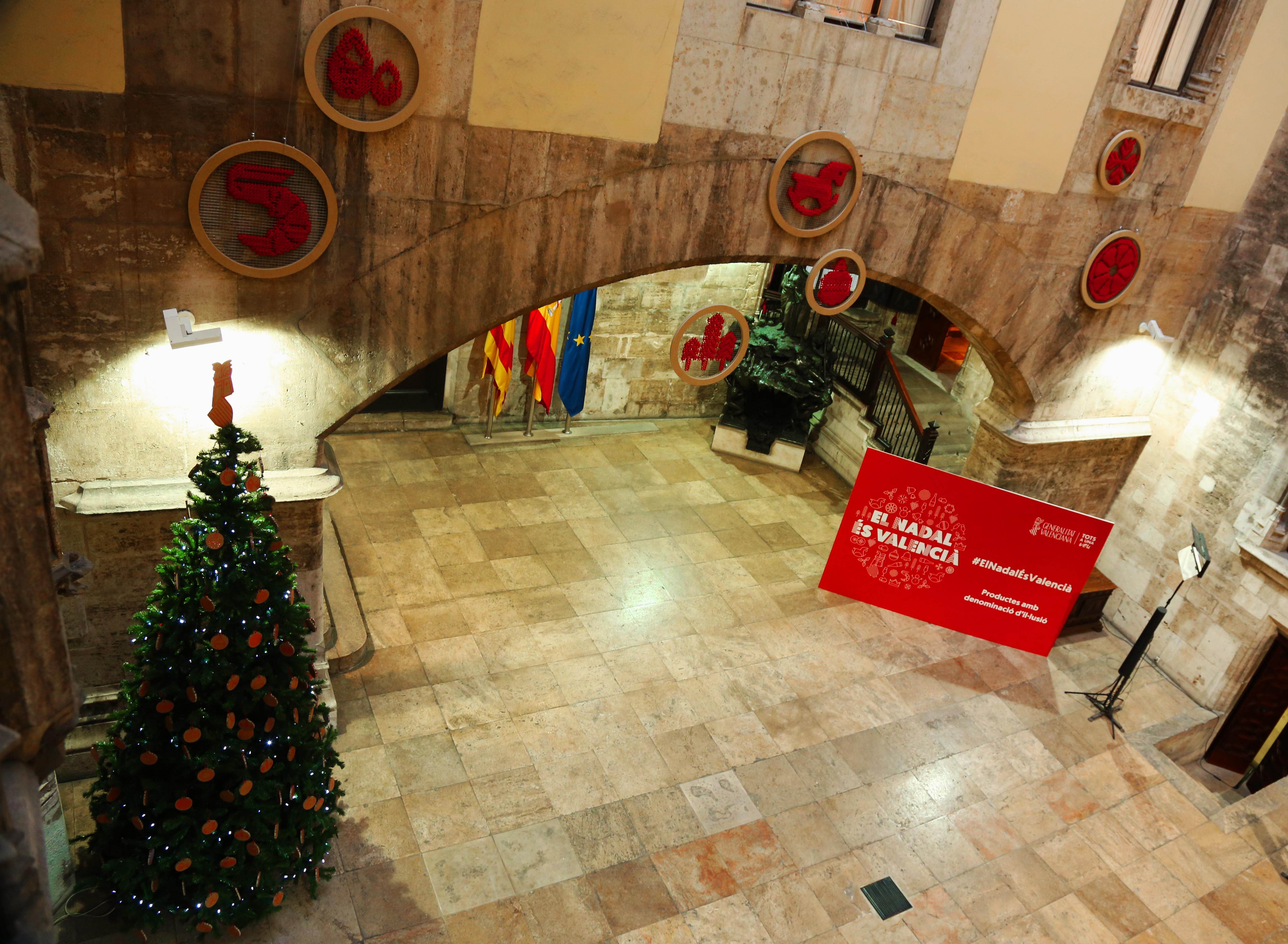 El Nadal és valencià, también en el Palau de la Generalitat