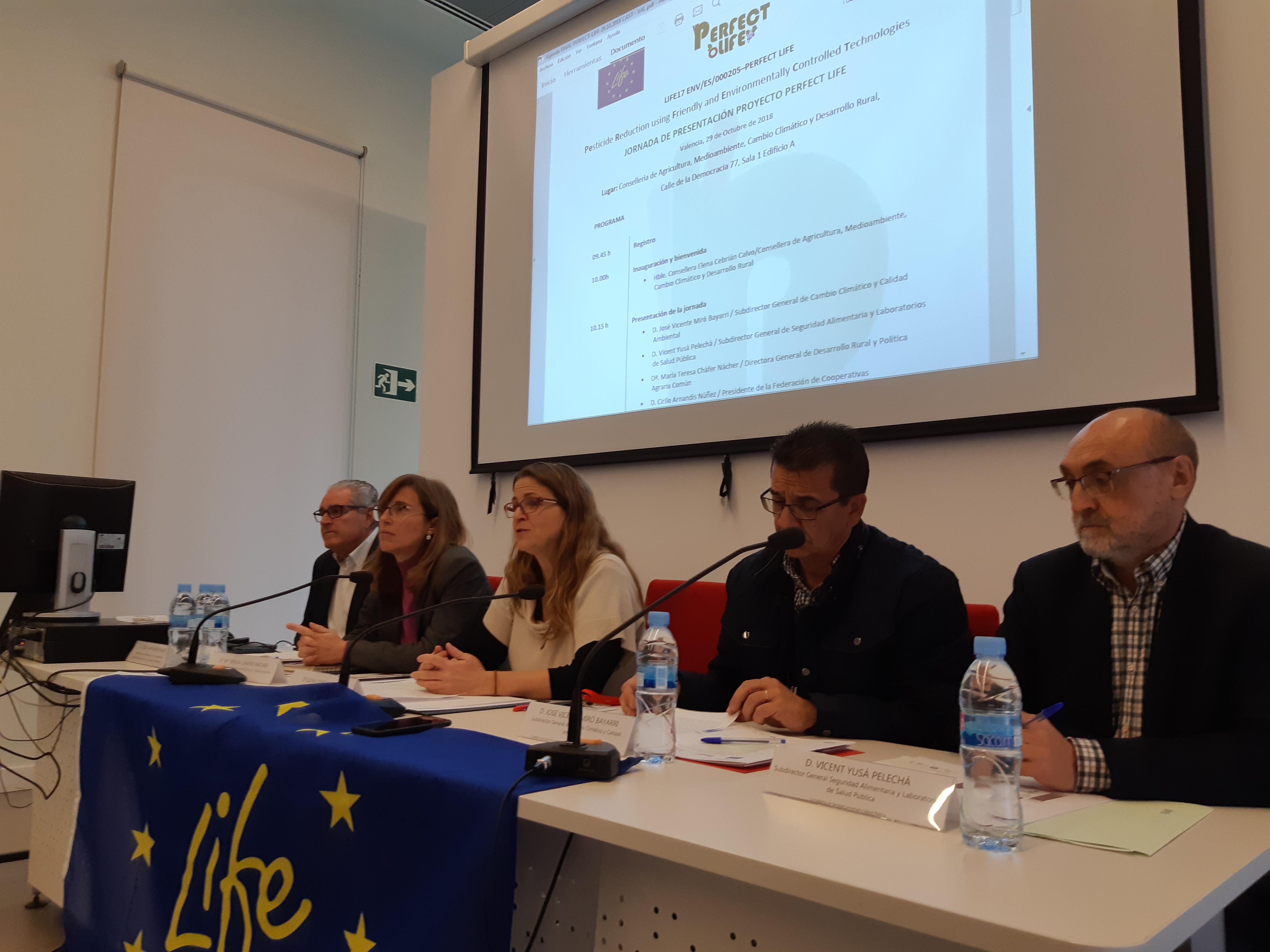 """Cebrián destaca el valor multidisciplinari i transversal del projecte Perfect Life per a reduir les emissions dels pesticides a l""""entorn"""