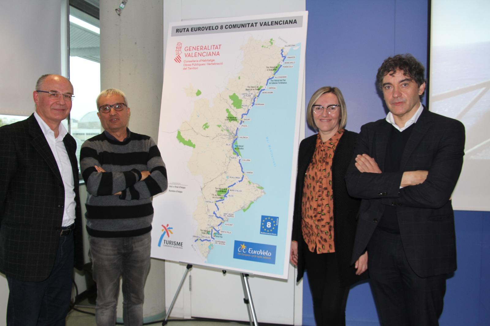 """La Generalitat presenta l""""itinerari cicloturístic europeu EuroVelo, amb més de 500 quilòmetres que discorren per la Comunitat Valenciana"""