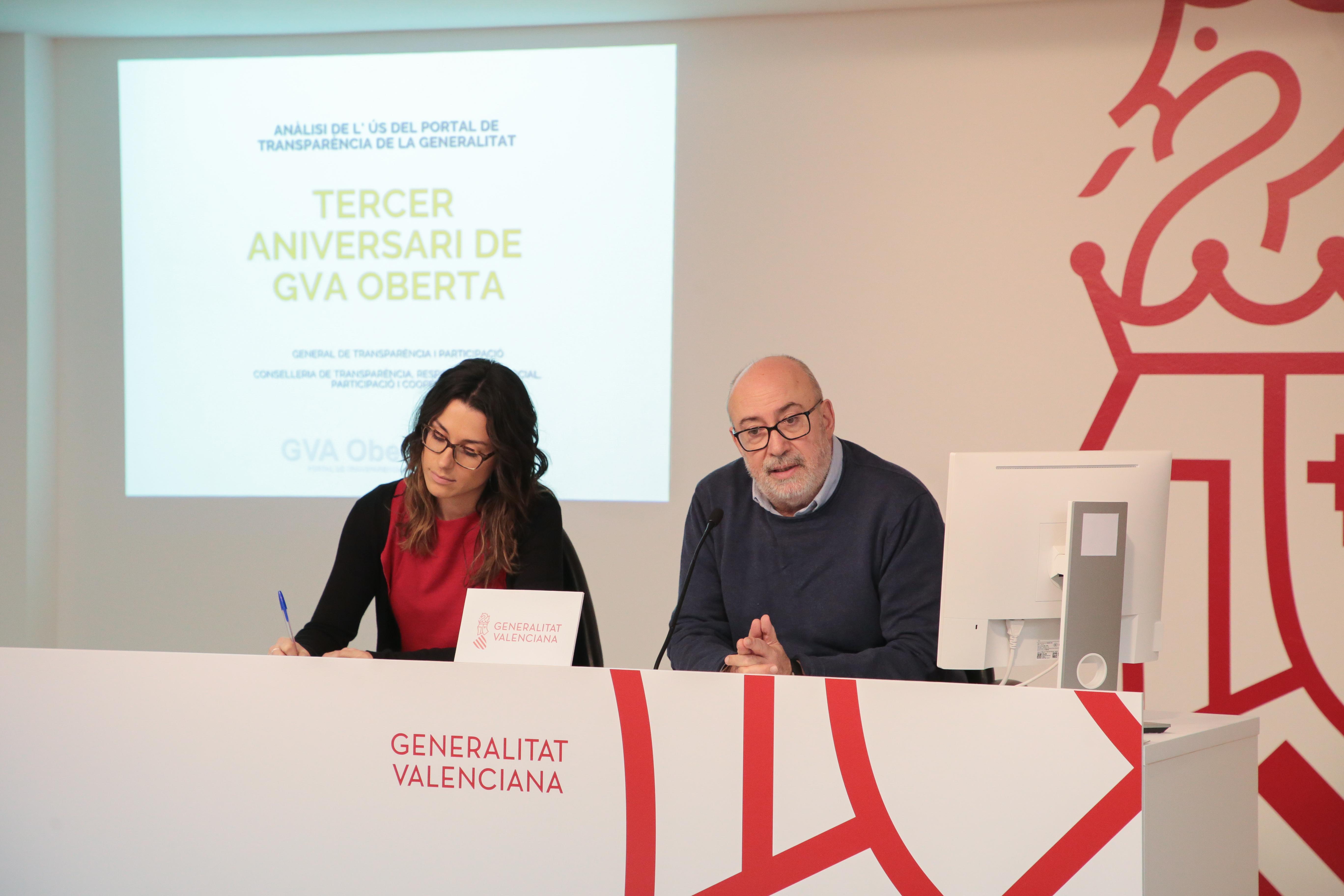 """Alcaraz afirma que GVA Oberta """"és la columna vertebral de la política de transparència de la Generalitat"""""""