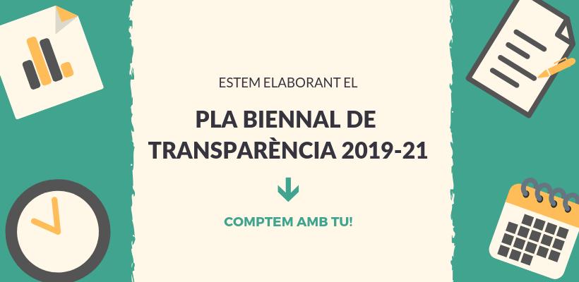 La Generalitat abre a consulta ciudadana el I Plan Bienal de Transparencia 2019-2021