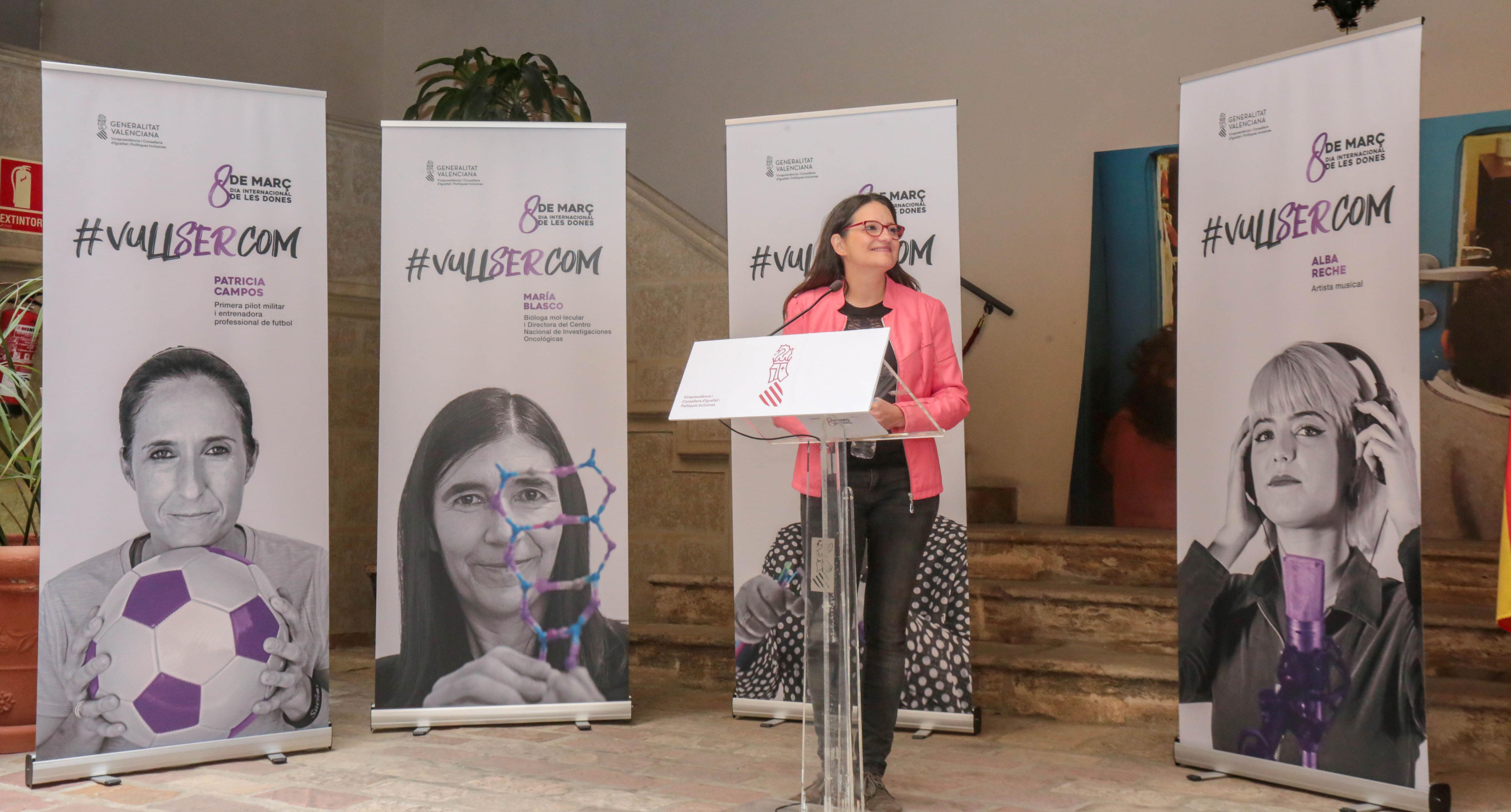 Oltra presenta una campanya del 8M que visualitza dones referents en diferents camps i de diferents edats