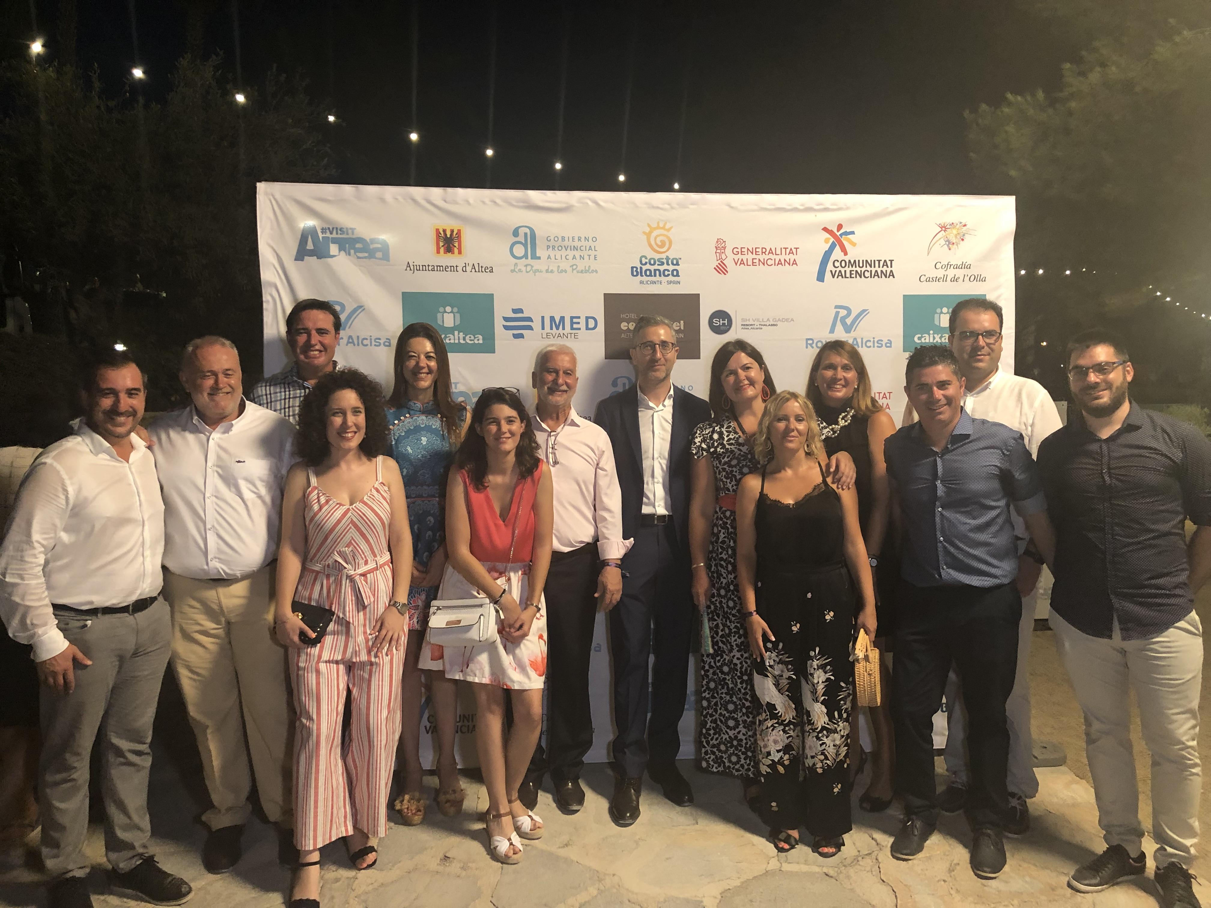 "Arcadi España asiste al Castell de l""Olla de Altea"