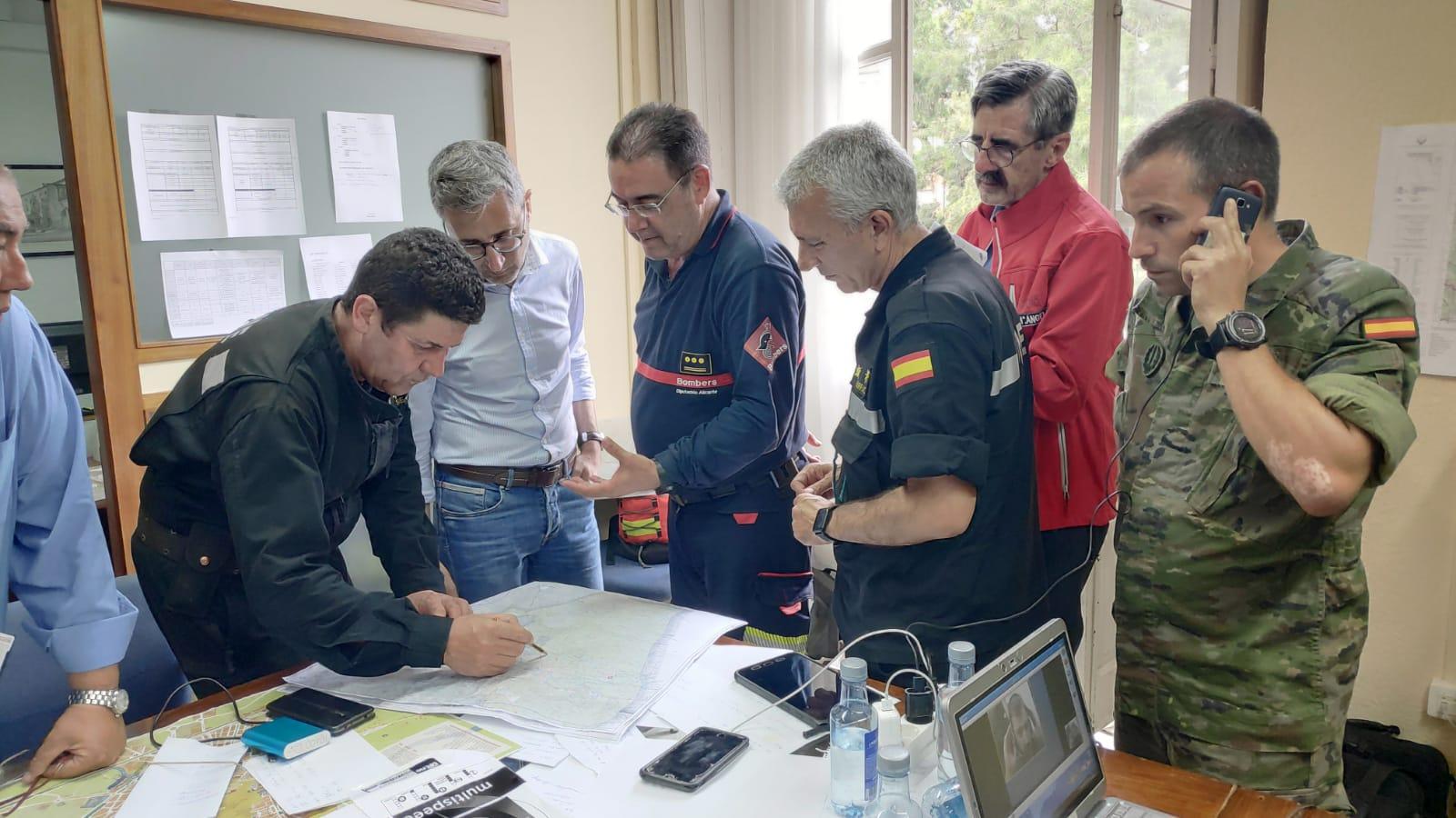El conseller Arcadi España visita el Puesto de Mando Avanzado de Orihuela