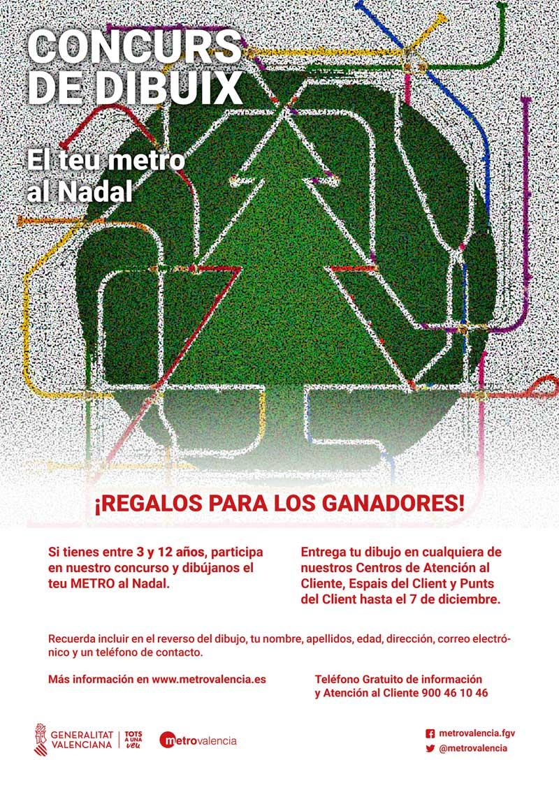 """Ferrocarrils de la Generalitat Valenciana abre el plazo para participar en el concurso infantil de dibujo """"El teu metro al Nadal"""""""
