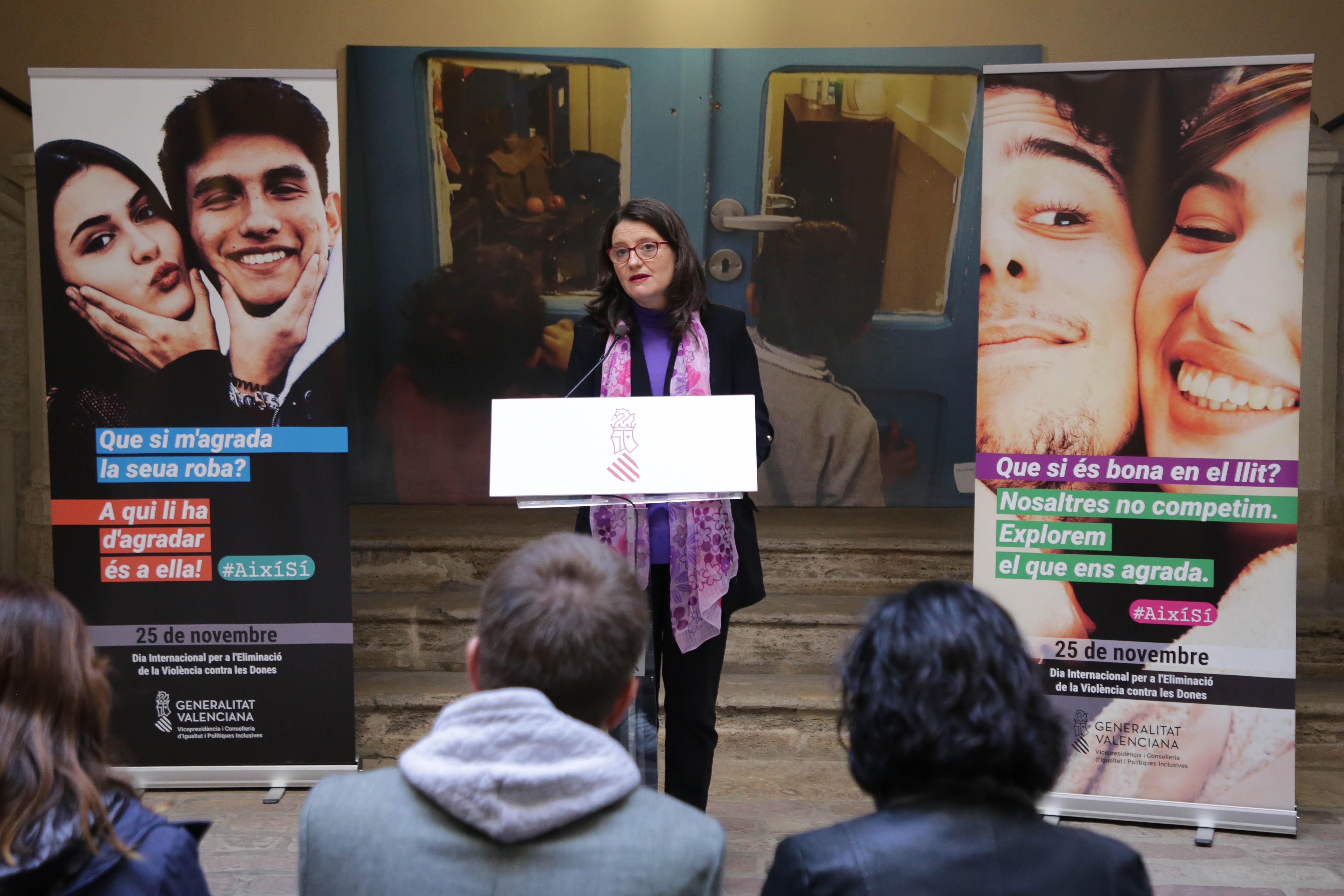 """Oltra: """"Aquesta campanya busca donar suport als homes que busquen la igualtat i treballen per la fi de la violència masclista"""""""