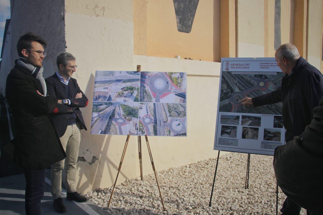 Arcadi España destaca la colaboración con el Ayuntamiento de Novelda en la mejora de accesos y proyectos de movilidad