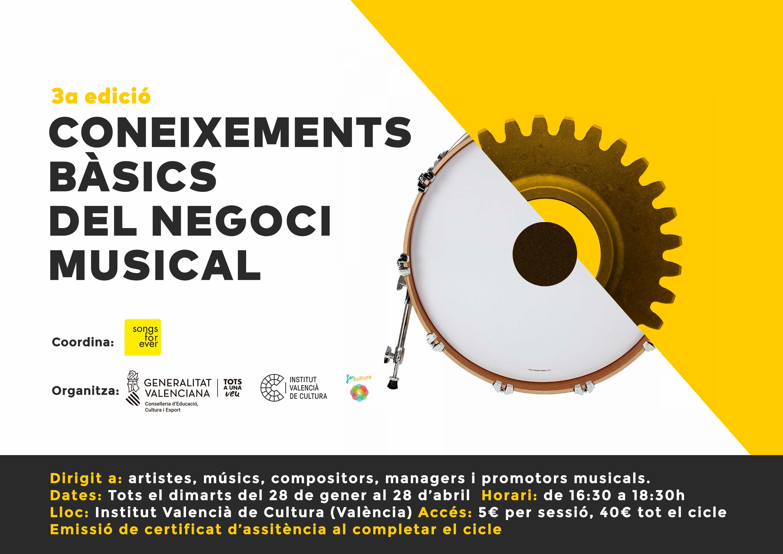 """IVC: III edició de """"Coneixements bàsics del negoci musical"""""""
