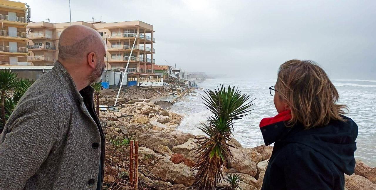Responsables de la Vicepresidencia Segunda y Conselleria de Vivienda visitan los municipios afectados por el temporal Gloria