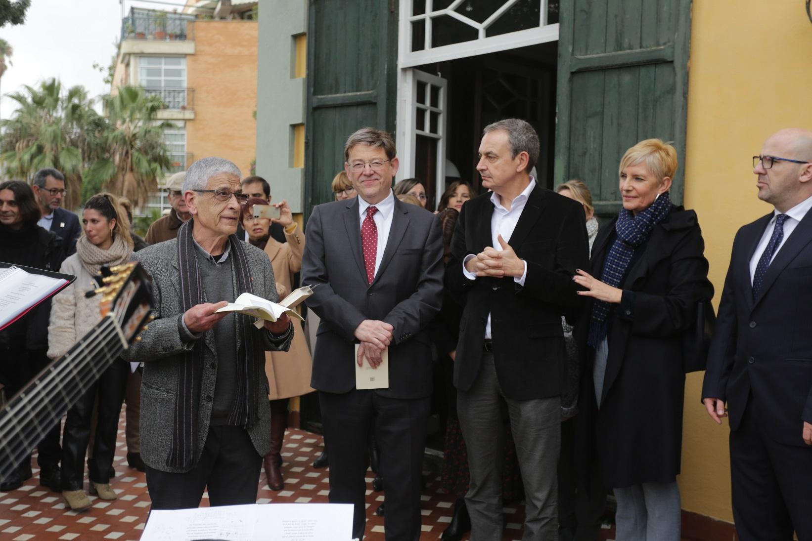 Ximo Puig visita Villa Amparo junto al expresidente Zapatero en el aniversario de la adquisición del inmueble por parte de la Generalitat