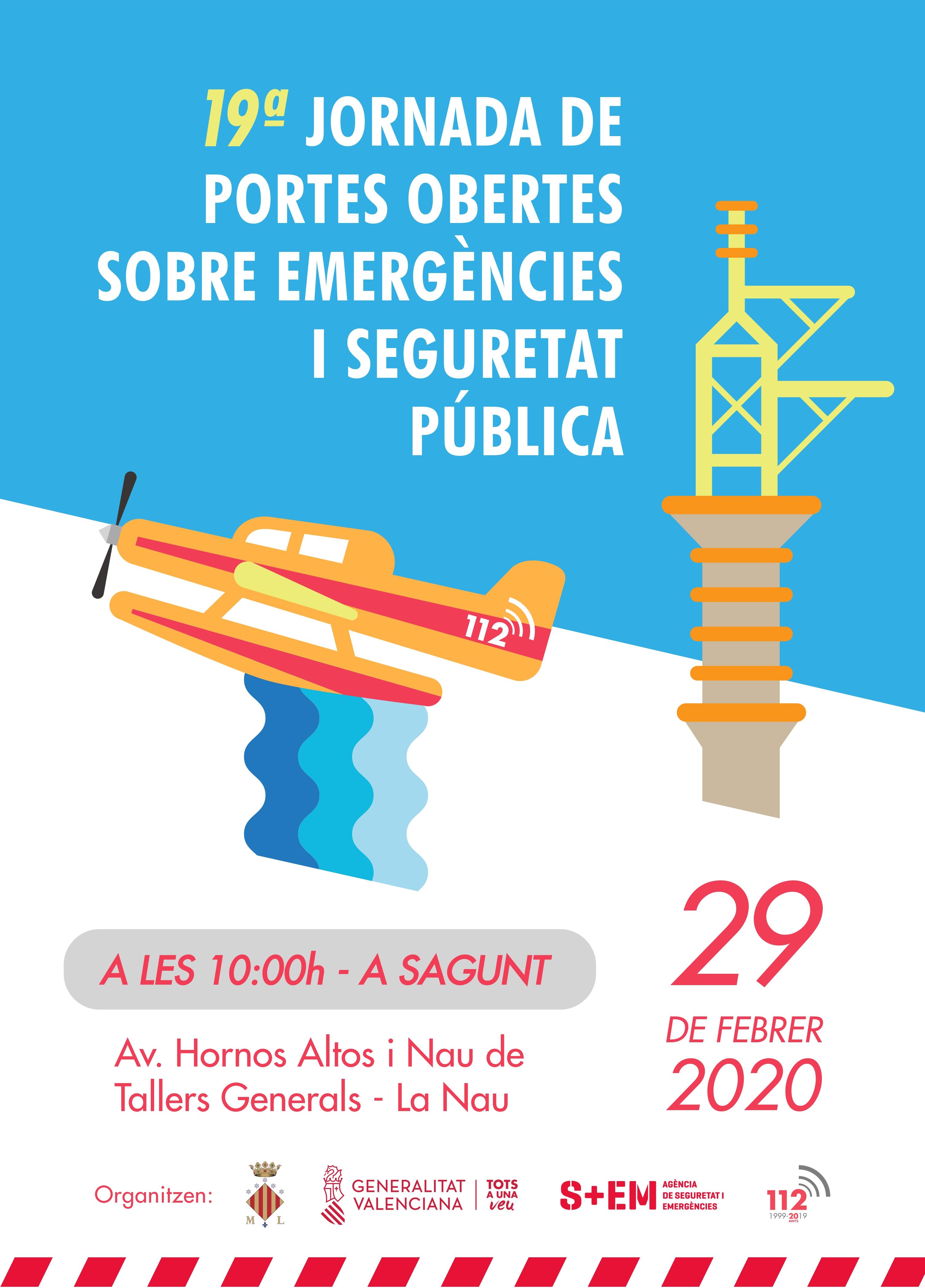"""La XIX Jornada de Portes Obertes del Centre de Coordinació d""""Emergències reunirà al Port de Sagunt 350 professionals"""