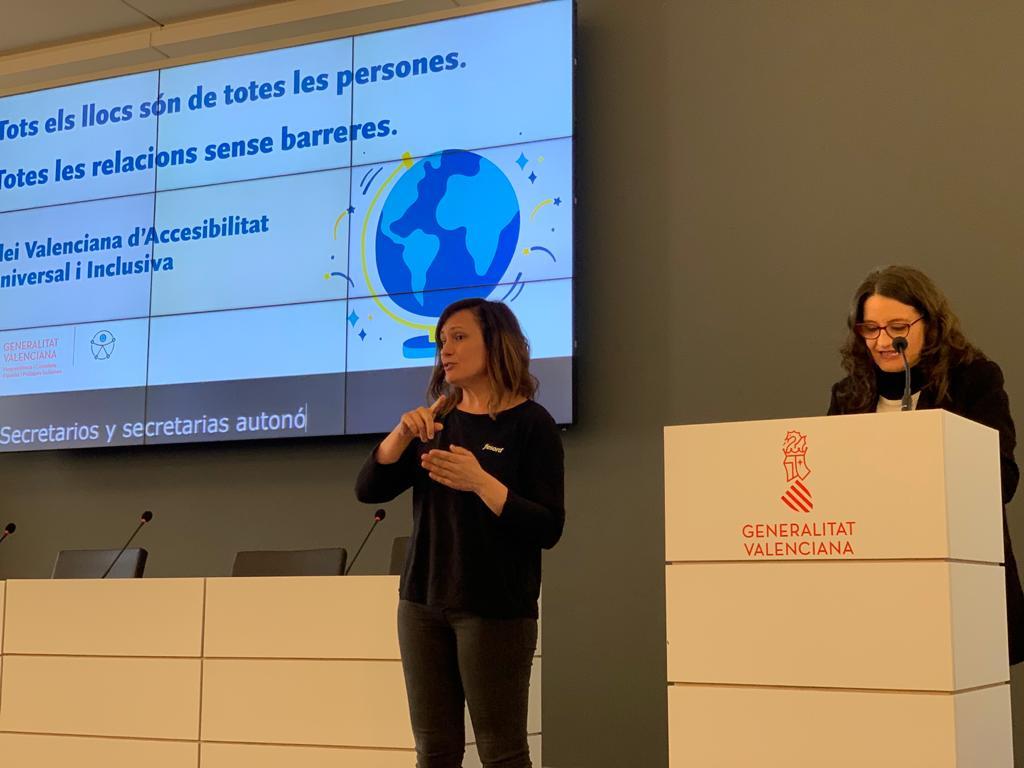"""Oltra: """"La Llei valenciana d""""accessibilitat universal farà de la Comunitat Valenciana un territori plenament inclusiu"""""""