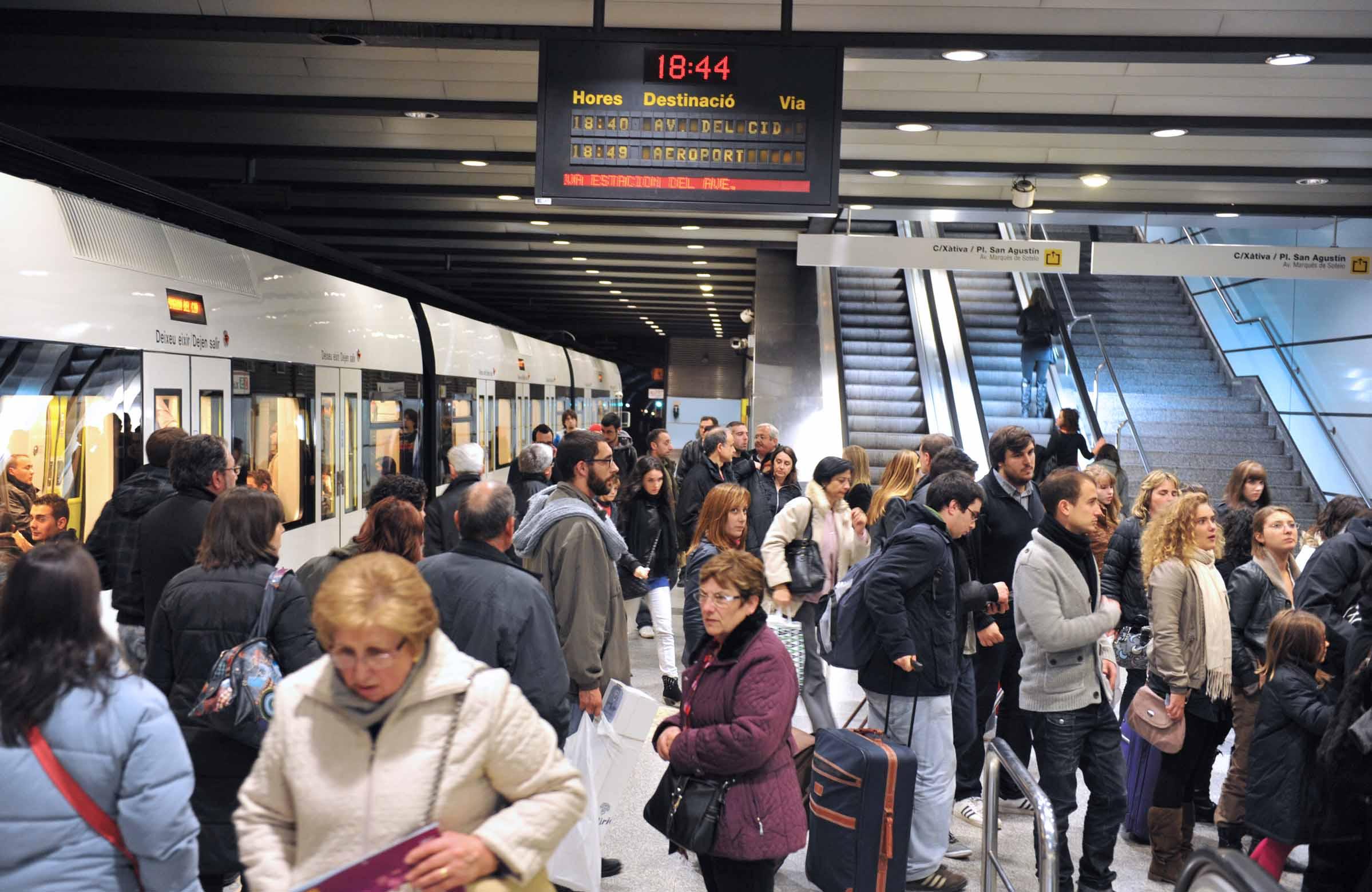 La Generalitat facilitó la movilidad de 5,6 millones de usuarios y usuarias en Metrovalencia durante enero