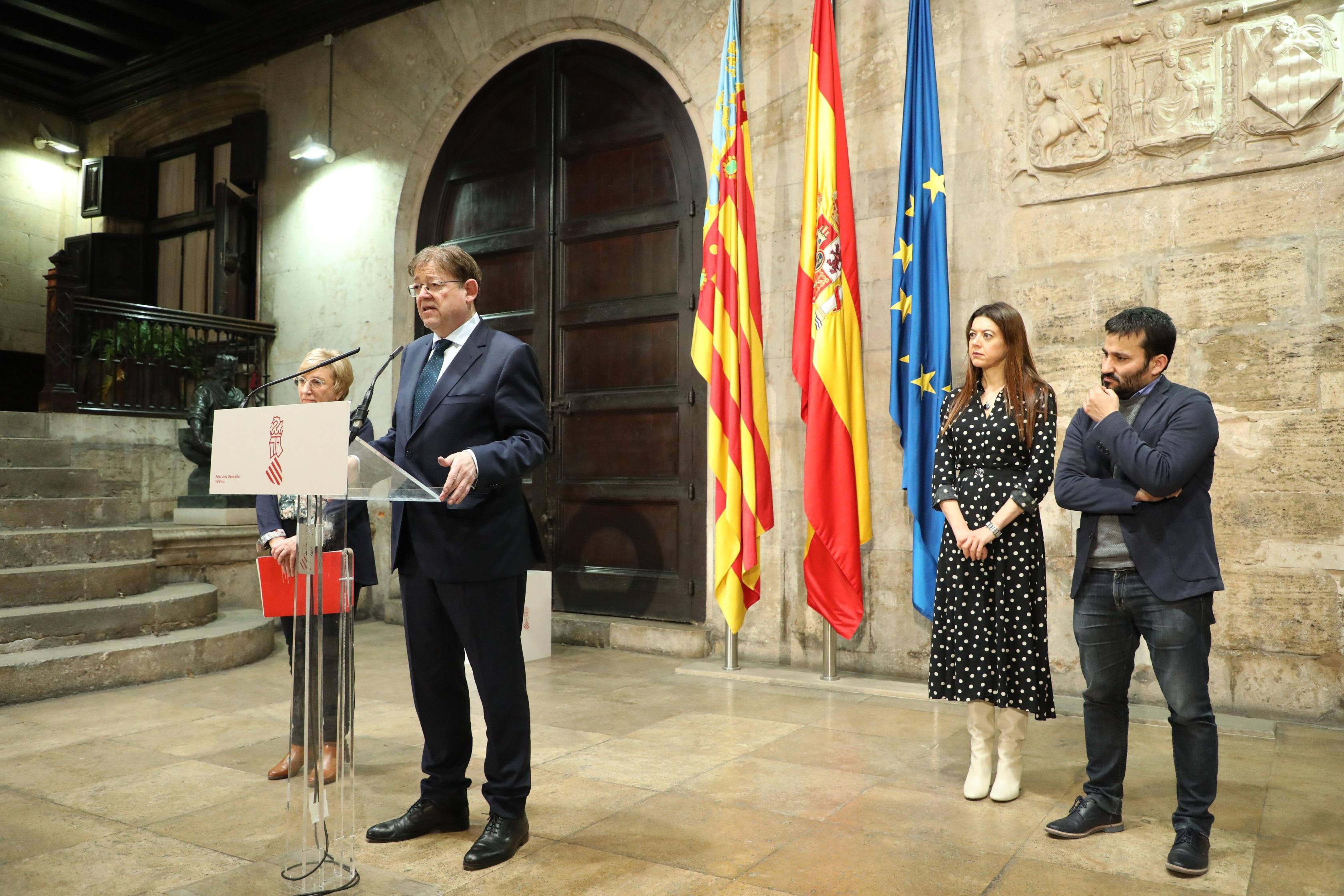 Ximo Puig anuncia la suspensión de toda la actividad educativa y formativa presencial en la Comunitat Valenciana a partir del lunes 16 de marzo co...