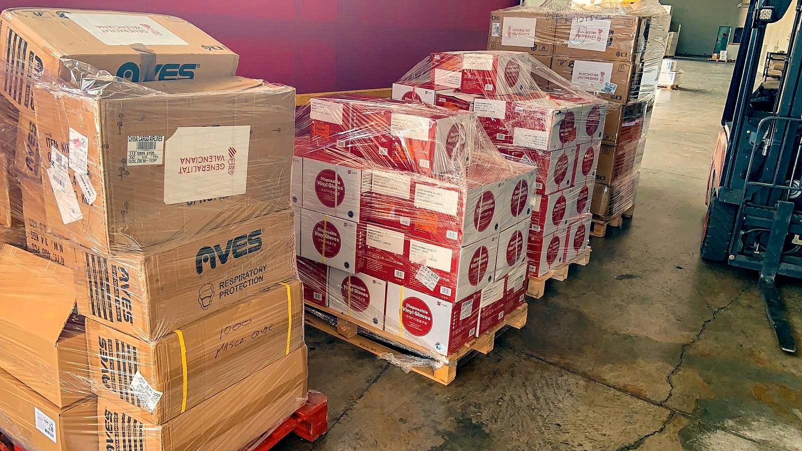 La Conselleria de Mobilitat comença a distribuir 40.000 mascaretes de protecció per al sector del transport