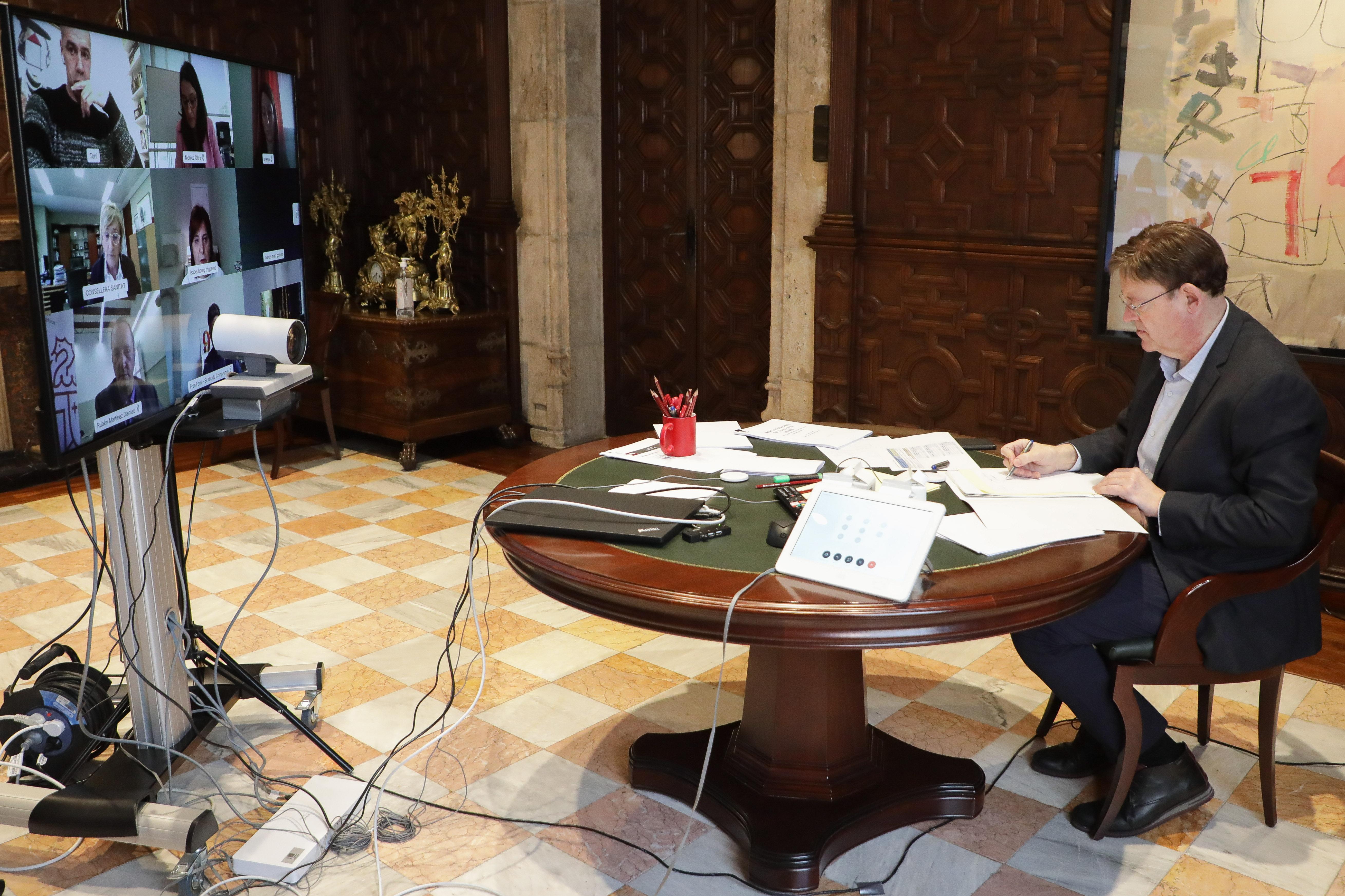 Ximo Puig destaca que se ofrecerá información por municipios sobre la COVID-19 siempre que estén garantizados los derechos de las personas afectadas