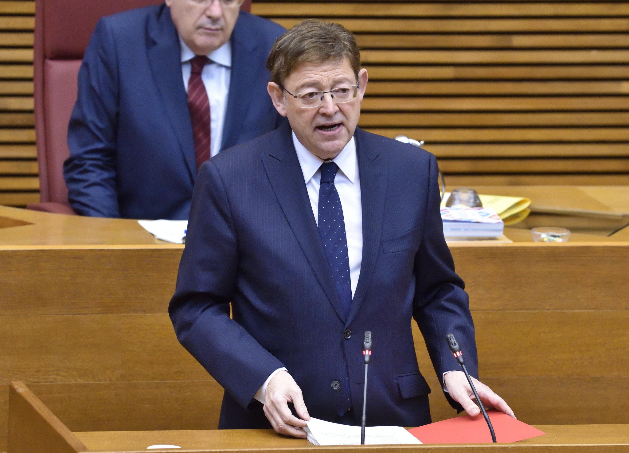 """Ximo Puig reivindica un """"gran acuerdo valenciano"""" para afrontar la recuperación y la reconstrucción de la Comunitat Valenciana ante la """"emergencia..."""