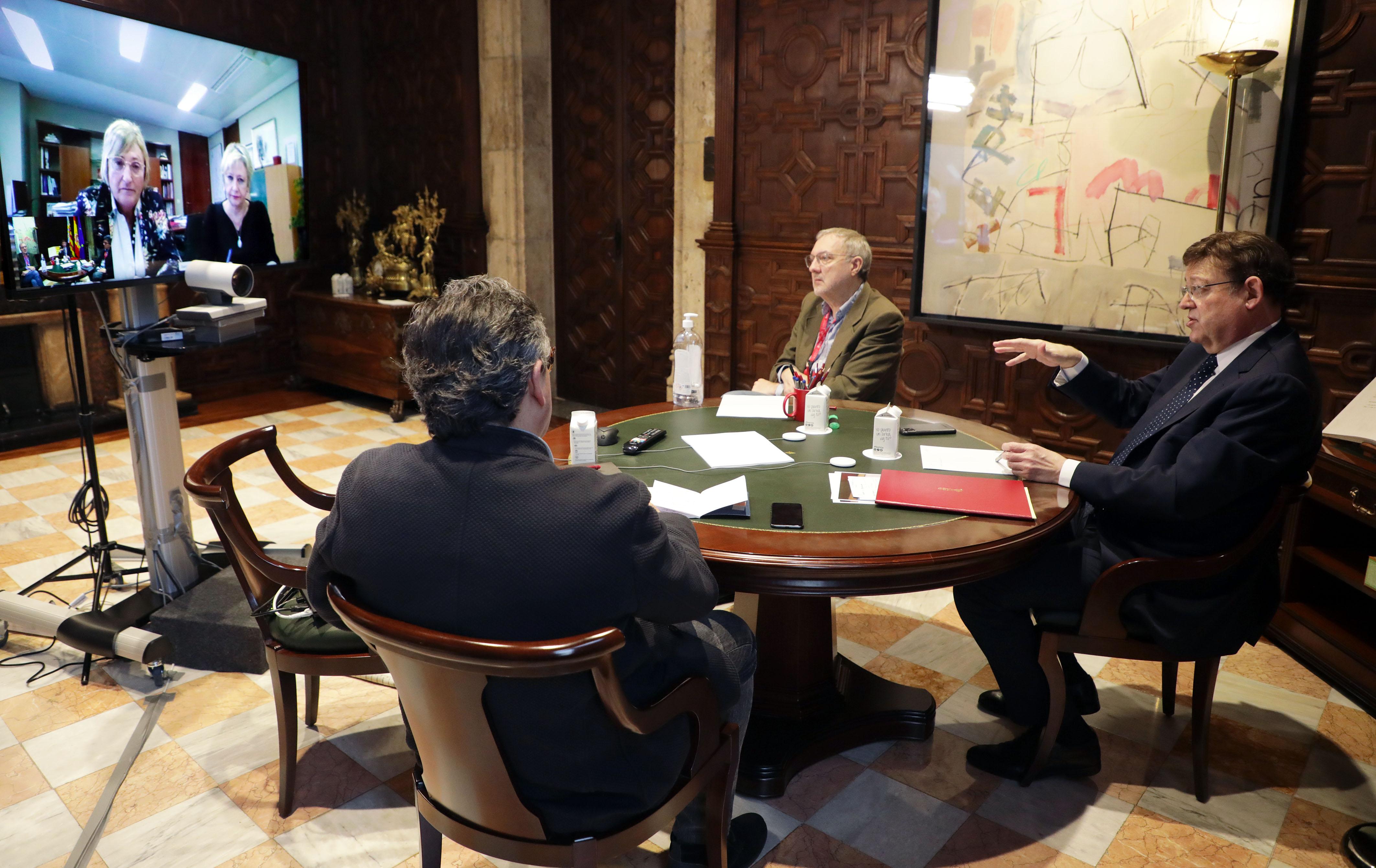 Puig ha mantingut una reunió amb la consellera de Sanitat Universal preparatòria del Consell Interterritorial del Sistema Nacional de Salut que se...