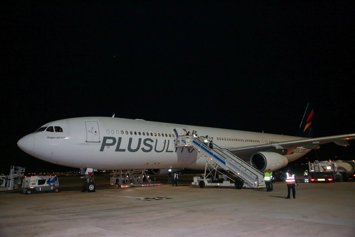 Un nuevo vuelo procedente de China con 34,9 toneladas de material sanitario ha aterrizado esta madrugada en Valencia