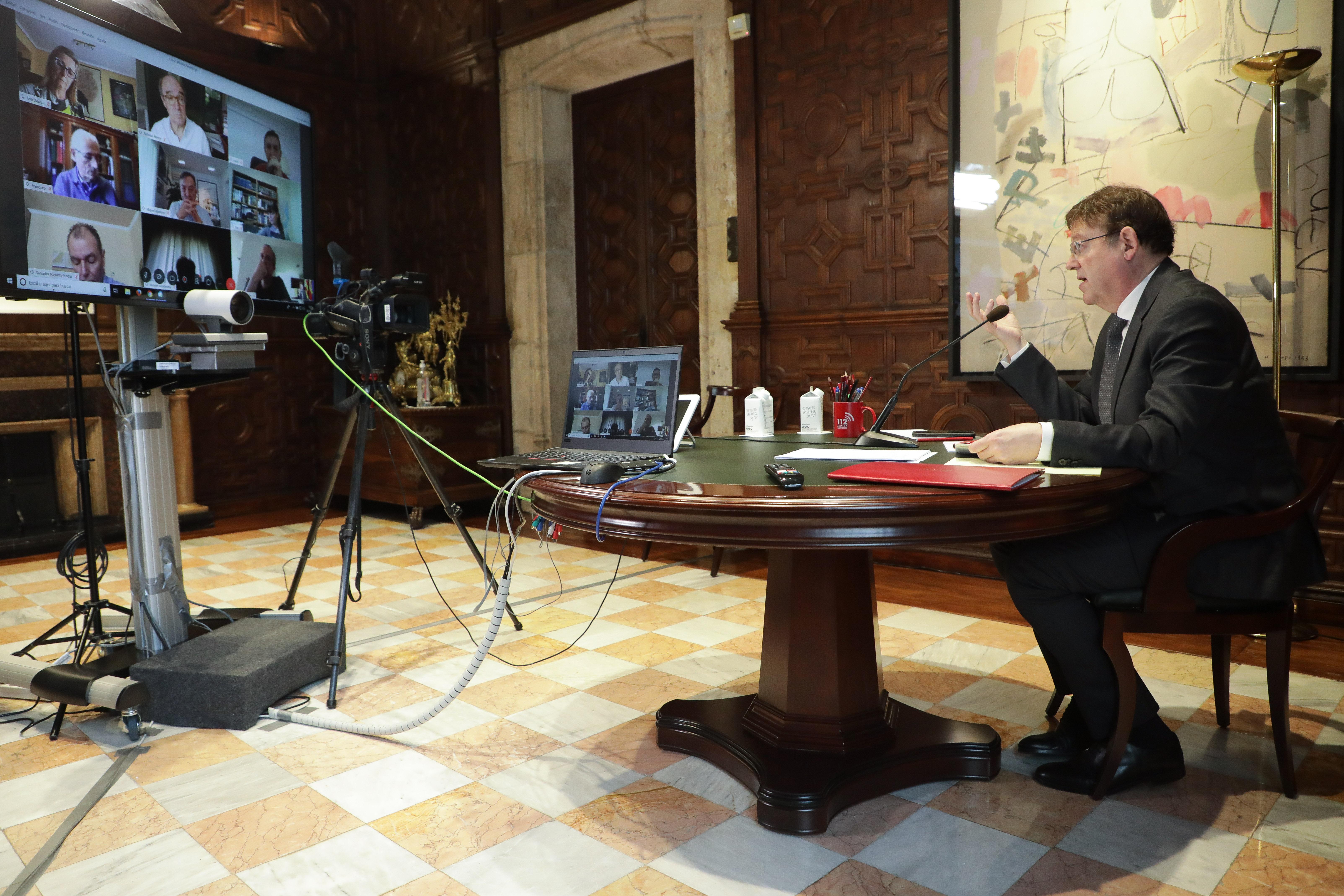 Ximo Puig anuncia que el Gobierno abonará entre el 2 y el 4 de mayo las prestaciones al 80% de las personas afectadas por ERTE en la Comunitat