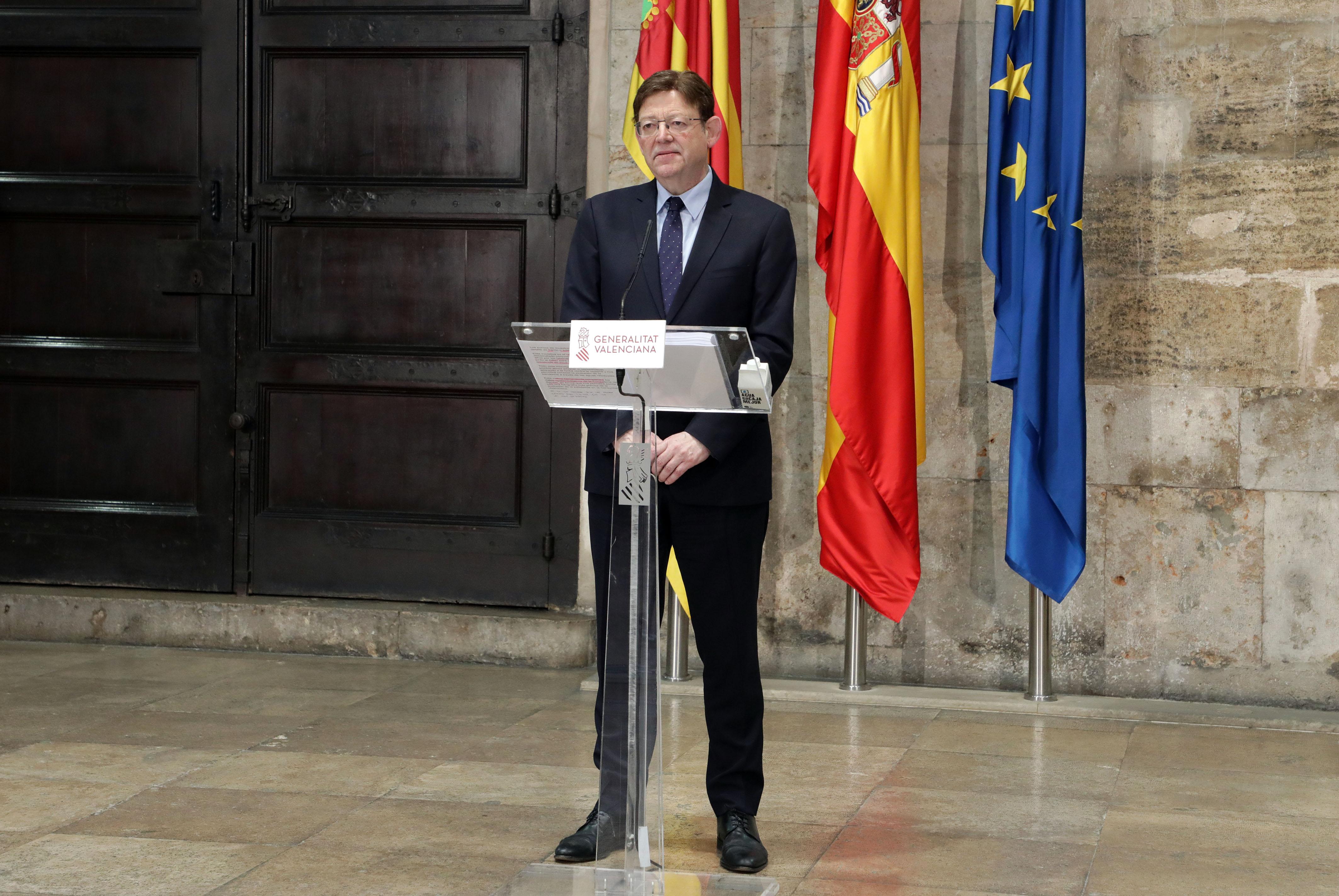 Ximo Puig anuncia que la Generalitat utilitzarà una eina de detecció precoç del coronavirus basada en la presència del SARS-CoV-2 en aigües residuals