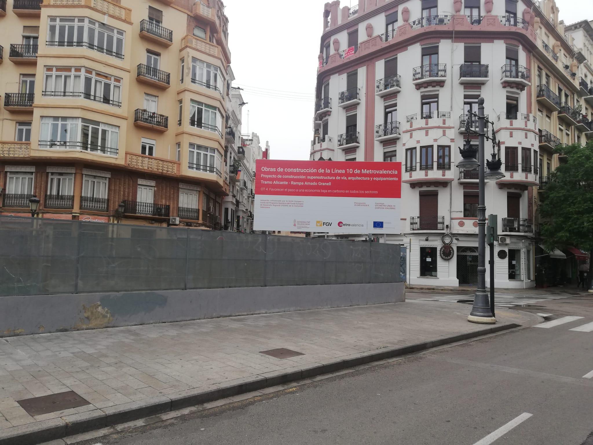 La Generalitat ejecuta las primeras actuaciones en el tramo subterráneo de la futura Línea 10 de Metrovalencia