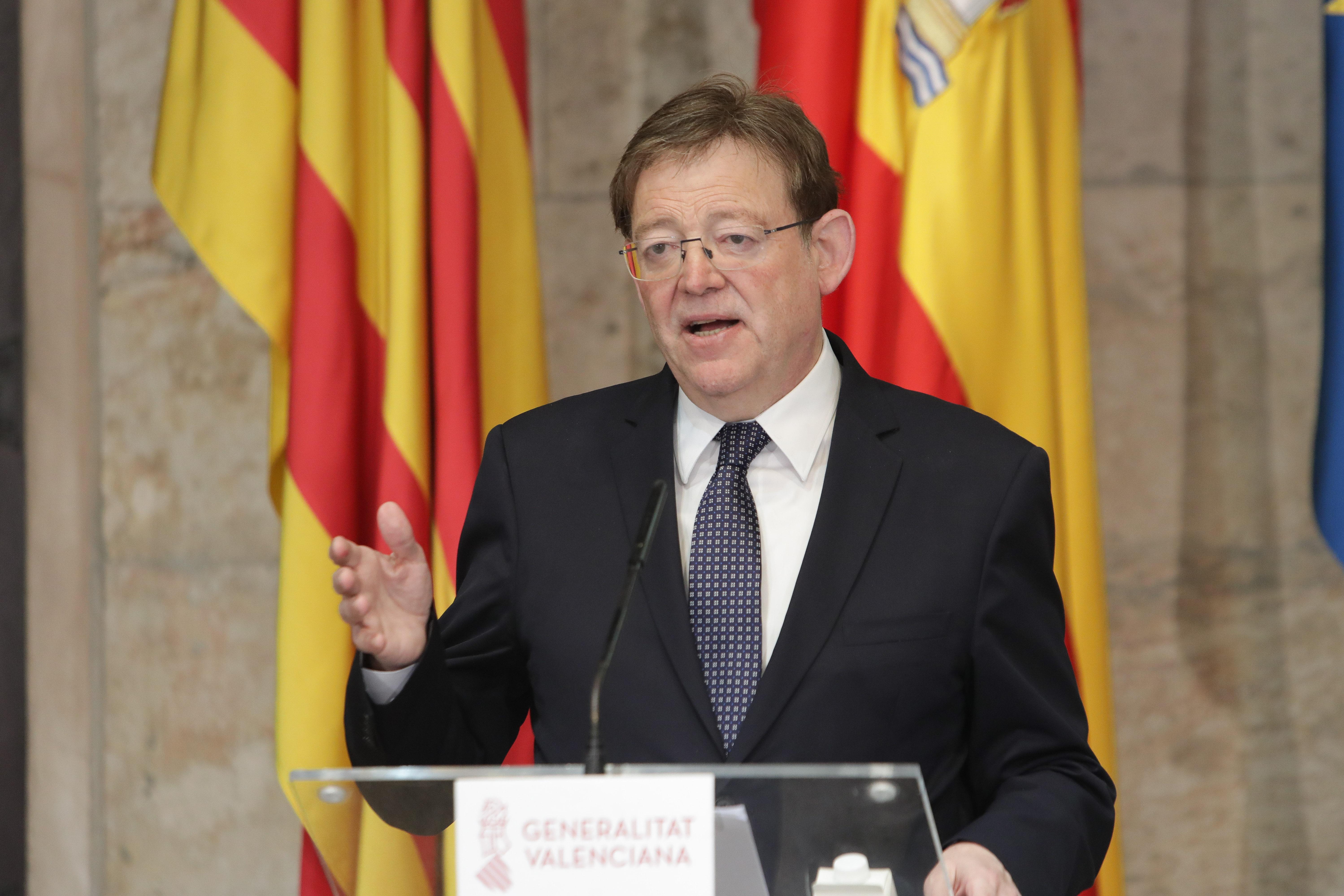 """Ximo Puig anuncia que sol·licitarà que la Comunitat Valenciana passe a la fase 2 l""""1 de juny i planteja al Govern que el cost de les màscares no c..."""