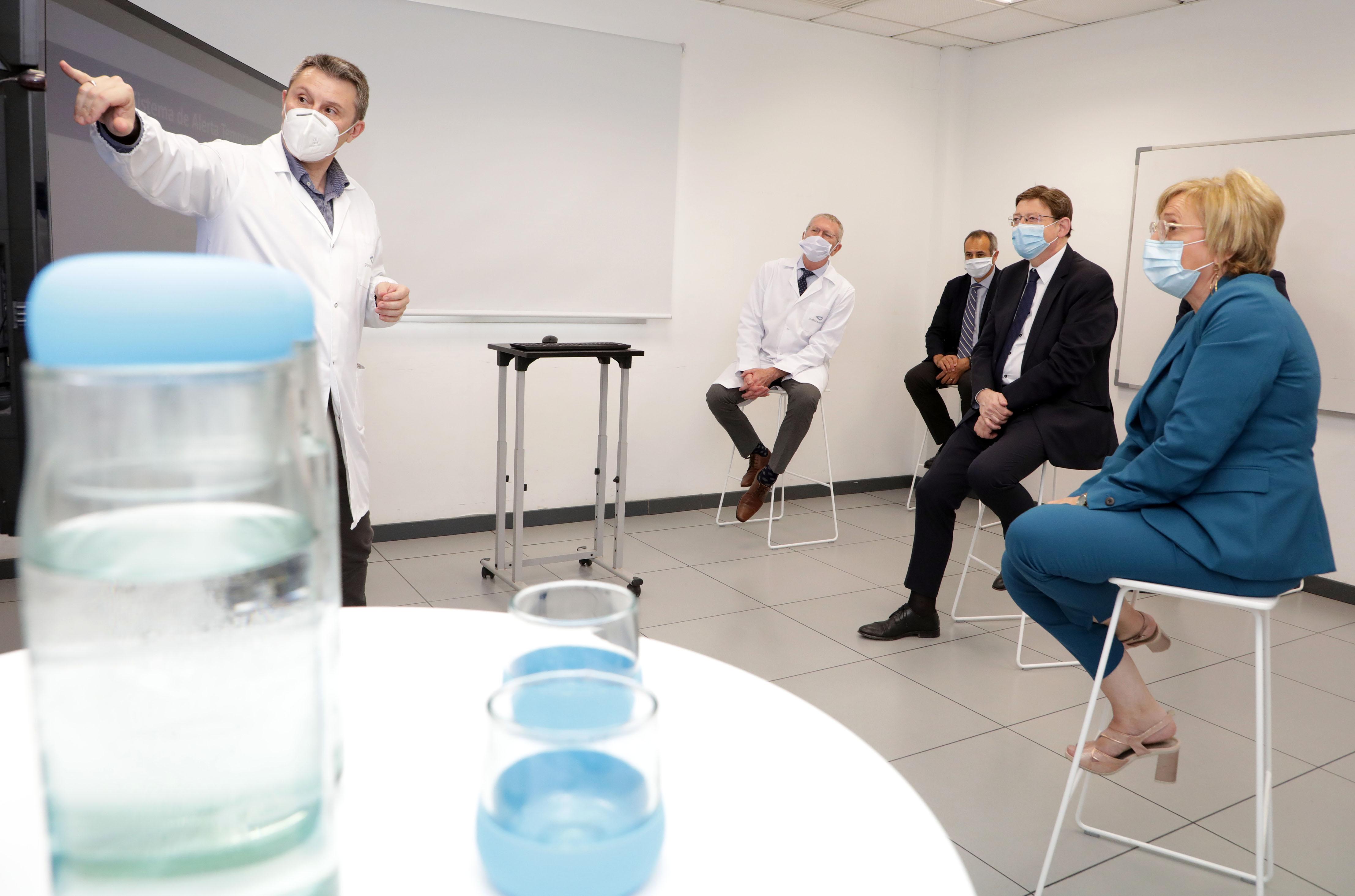 """Ximo Puig destaca que el projecte d""""anàlisi d""""aigües residuals constata una reducció important de la presència de SARS-CoV-2 amb el confinament"""