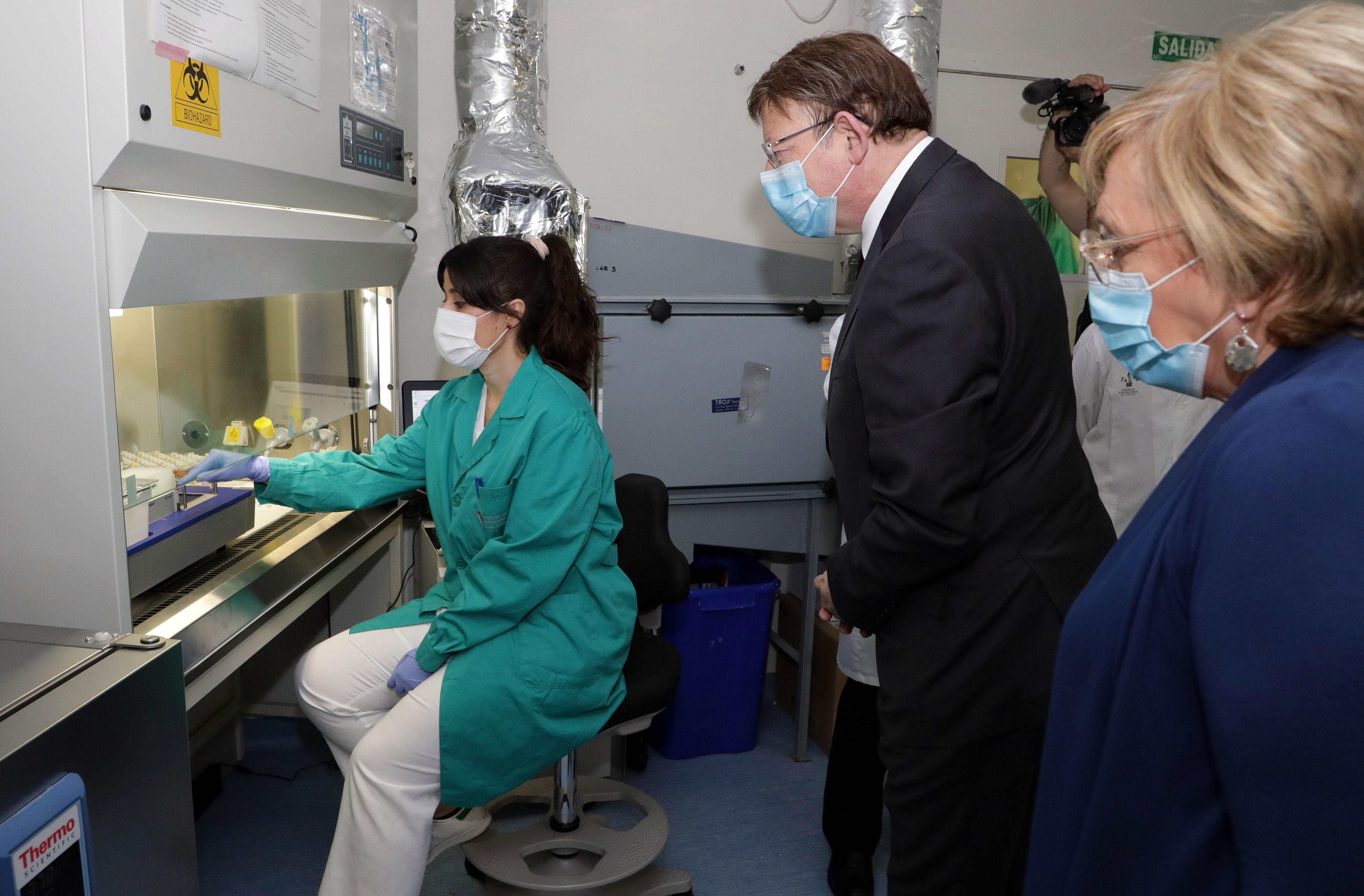 """Ximo Puig anuncia que Fisabio participa en el desenvolupament d""""un nou test per a diagnosticar el virus de la COVID-19 de manera més ràpida i precisa"""