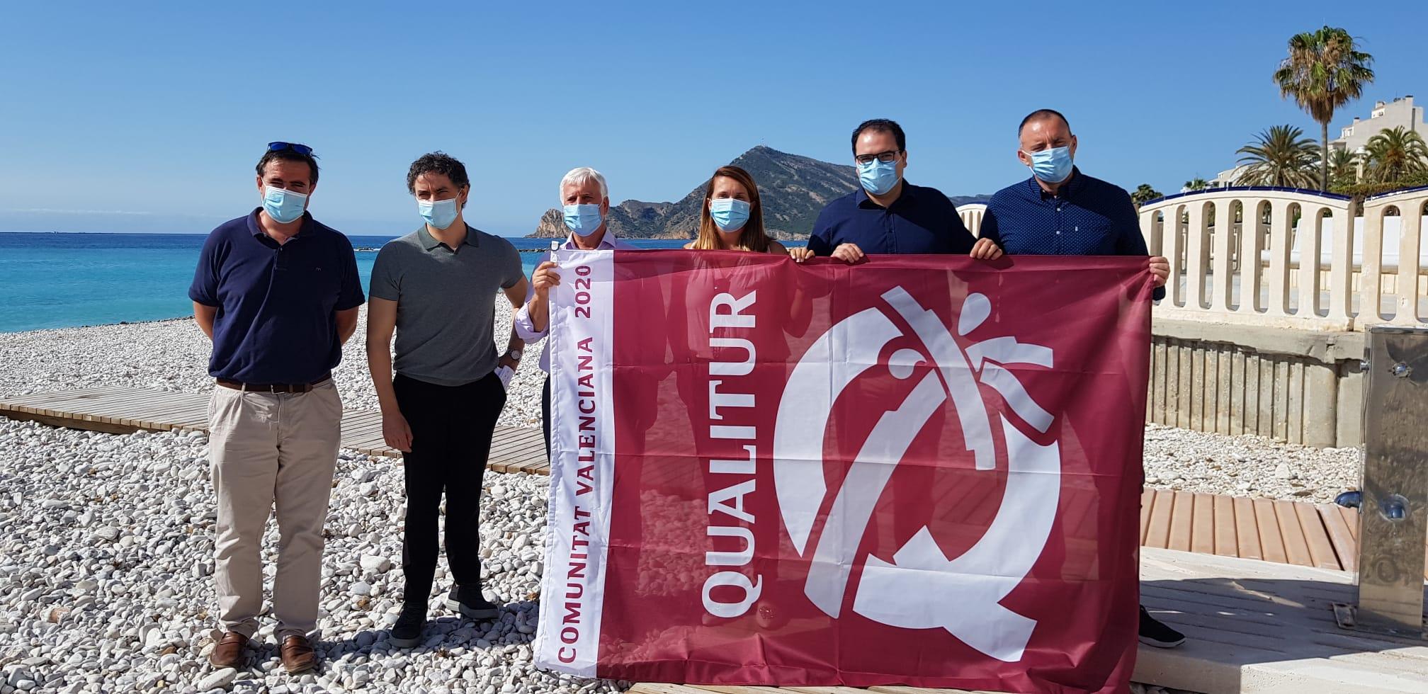 """Francesc Colomer destaca que las banderas Qualitur """"son un reconocimiento al esfuerzo turístico"""""""