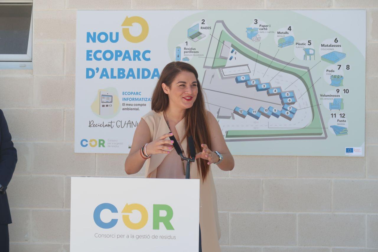 La Conselleria de Transició Ecològica posa en marxa a Albaida el primer ecoparc informatitzat de nova construcció del Consorci V5