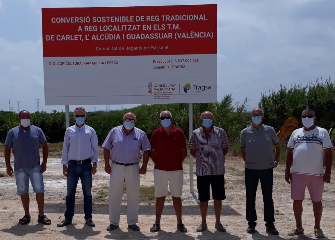 Les obres de modernització de regadiu en la Comunitat de Regants de Masalet permetran reconvertir a reg localitzat prop de 1.500 hectàrees