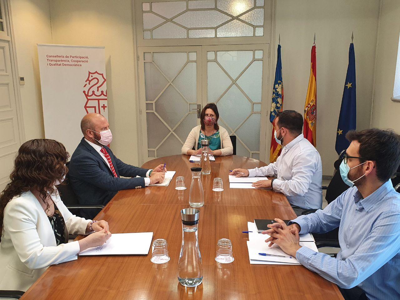Participació i la Diputació de Valencià acorden coordinar-se en la concessió de subvencions de Transparència i Participació a les entitats locals