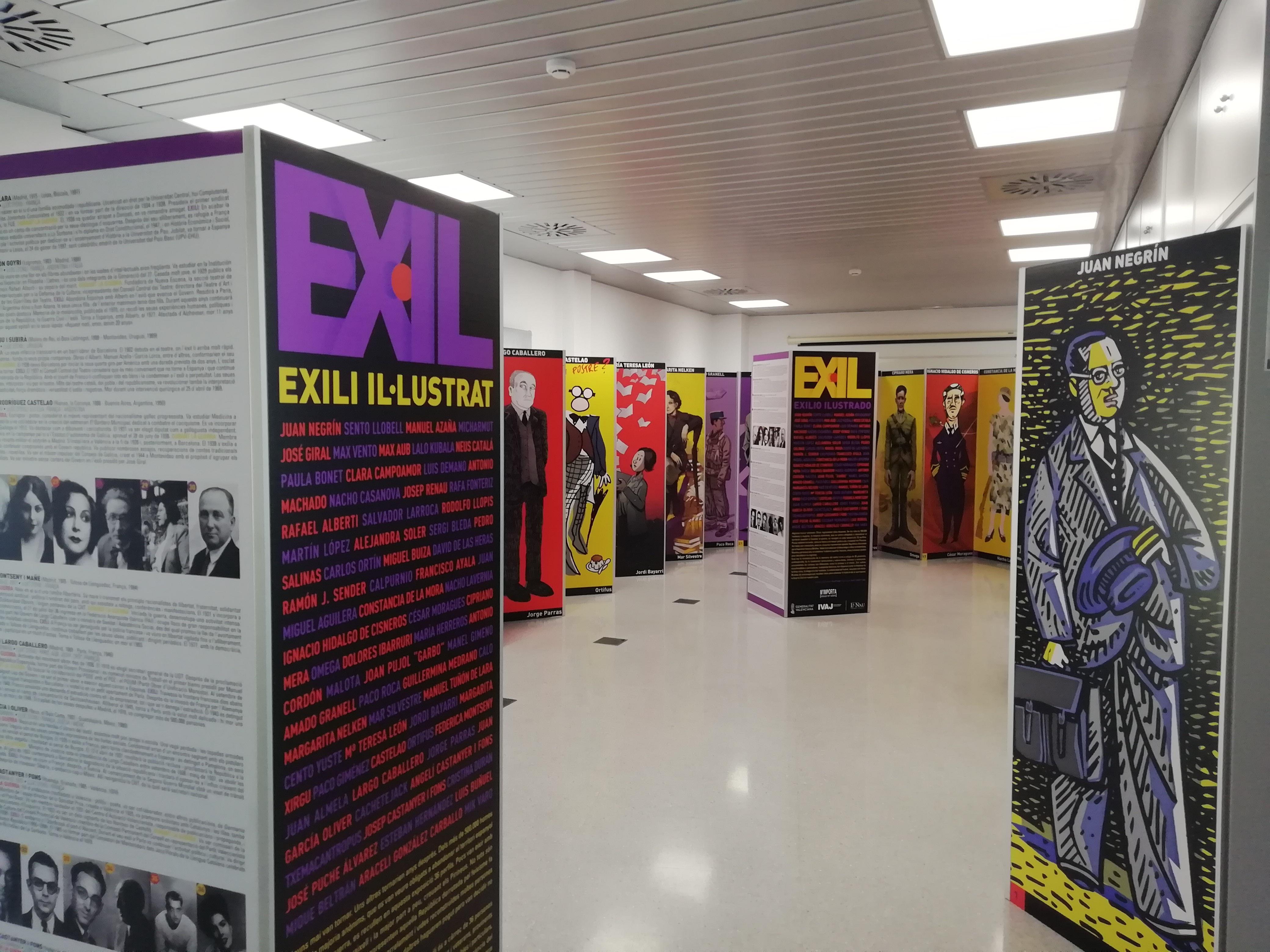 """La exposición itinerante """"Exili Il·lustrat"""" del IVAJ viaja en agosto a Macastre, Argelita y Alborache"""