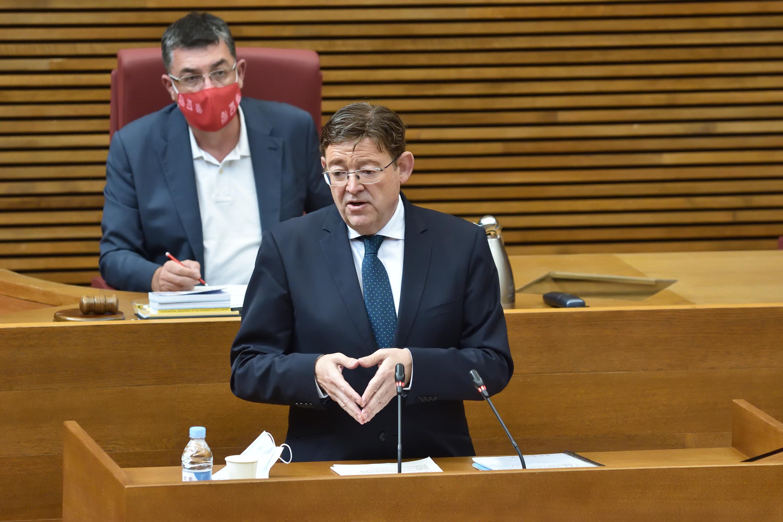 """Ximo Puig subratlla la """"gran oportunitat"""" que representa el Fons Europeu per a accelerar la recuperació valenciana i modelar """"una Comunitat verda,..."""