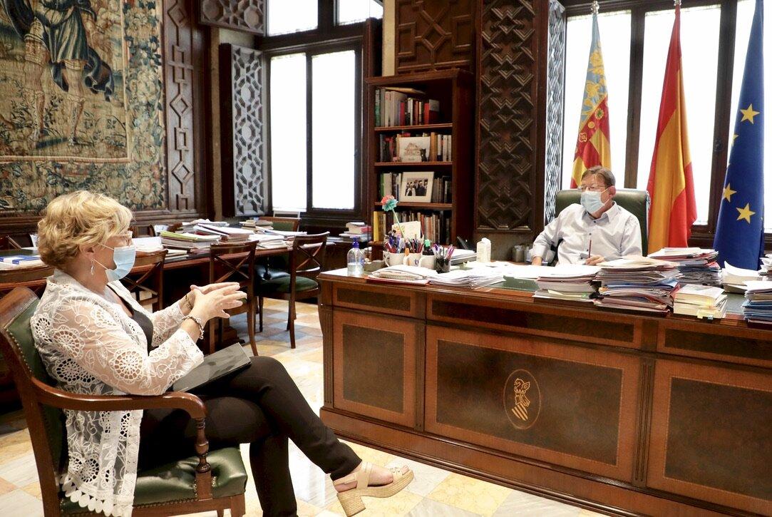 Ximo Puig analiza con la consellera de Sanidad la situación de la Comunitat Valenciana y las nuevas medidas dirigidas al control de los rebrotes d...