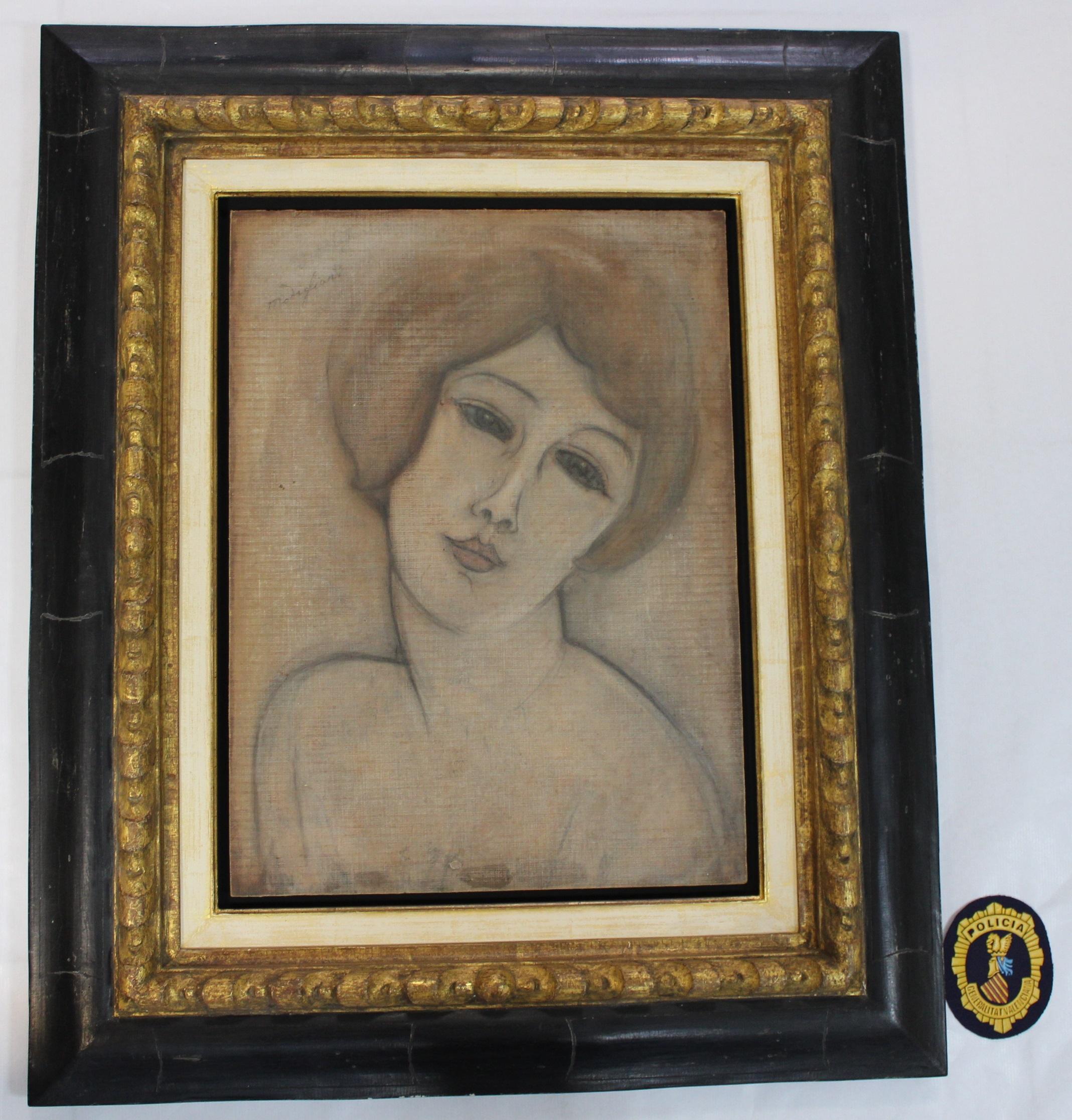 La Policía de la Generalitat interviene once obras falsas de Modigliani, Benlliure y Miró
