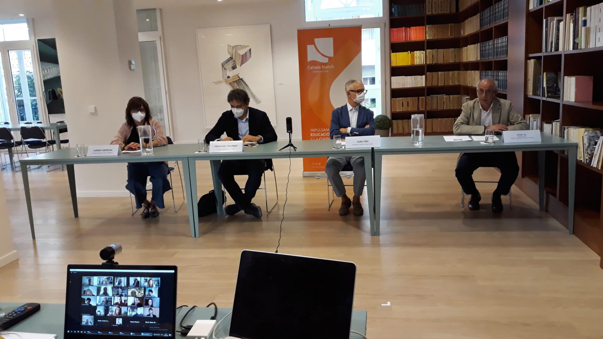 Francesc Colomer i Carmen Amoraga inauguren la XIX edició del Curs de Turisme Cultural de la Fundació Canal Blanch