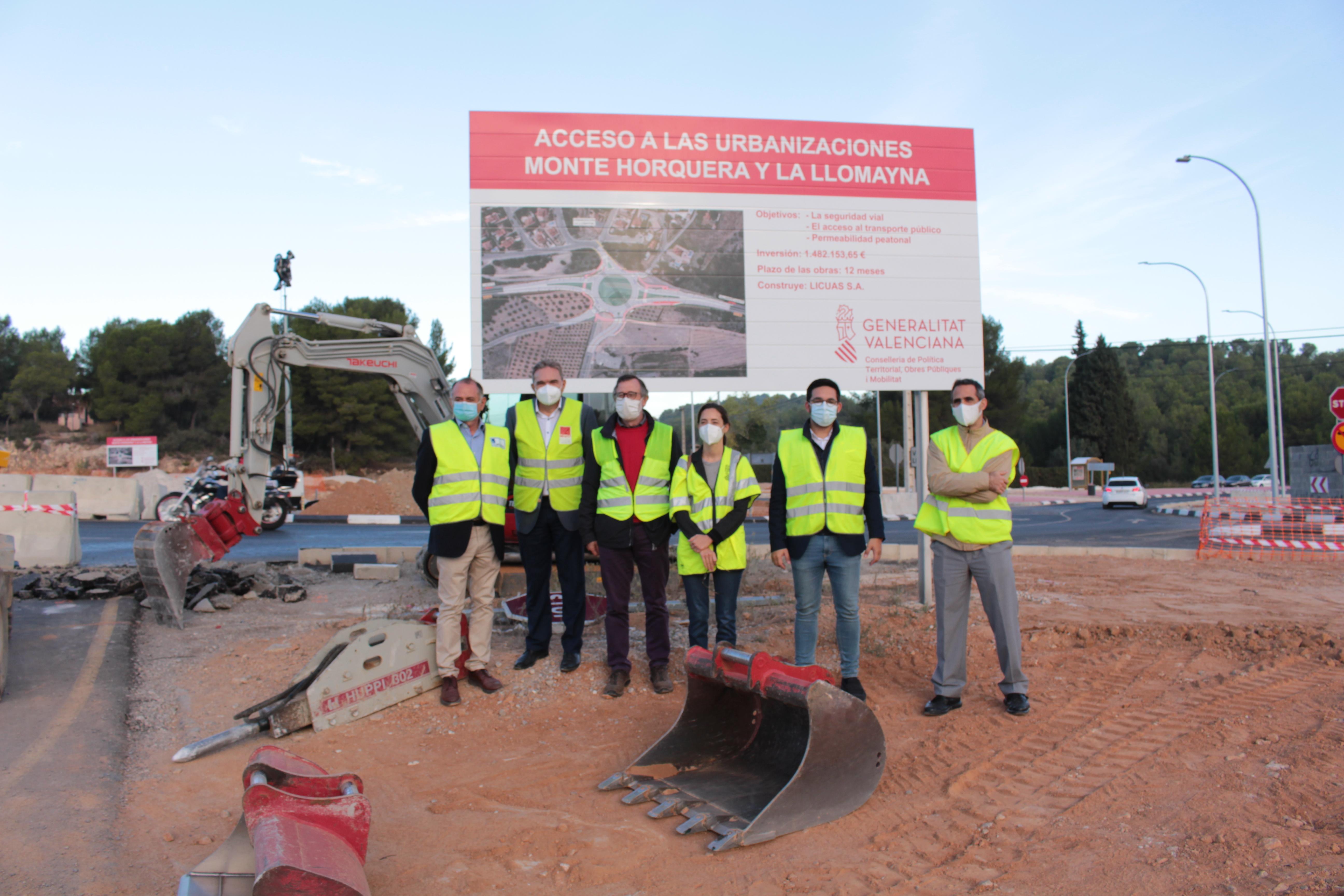 Obras Públicas invierte cerca de 1,5 millones de euros en incrementar la seguridad vial del acceso a urbanizaciones de Vilamarxant en la CV-50