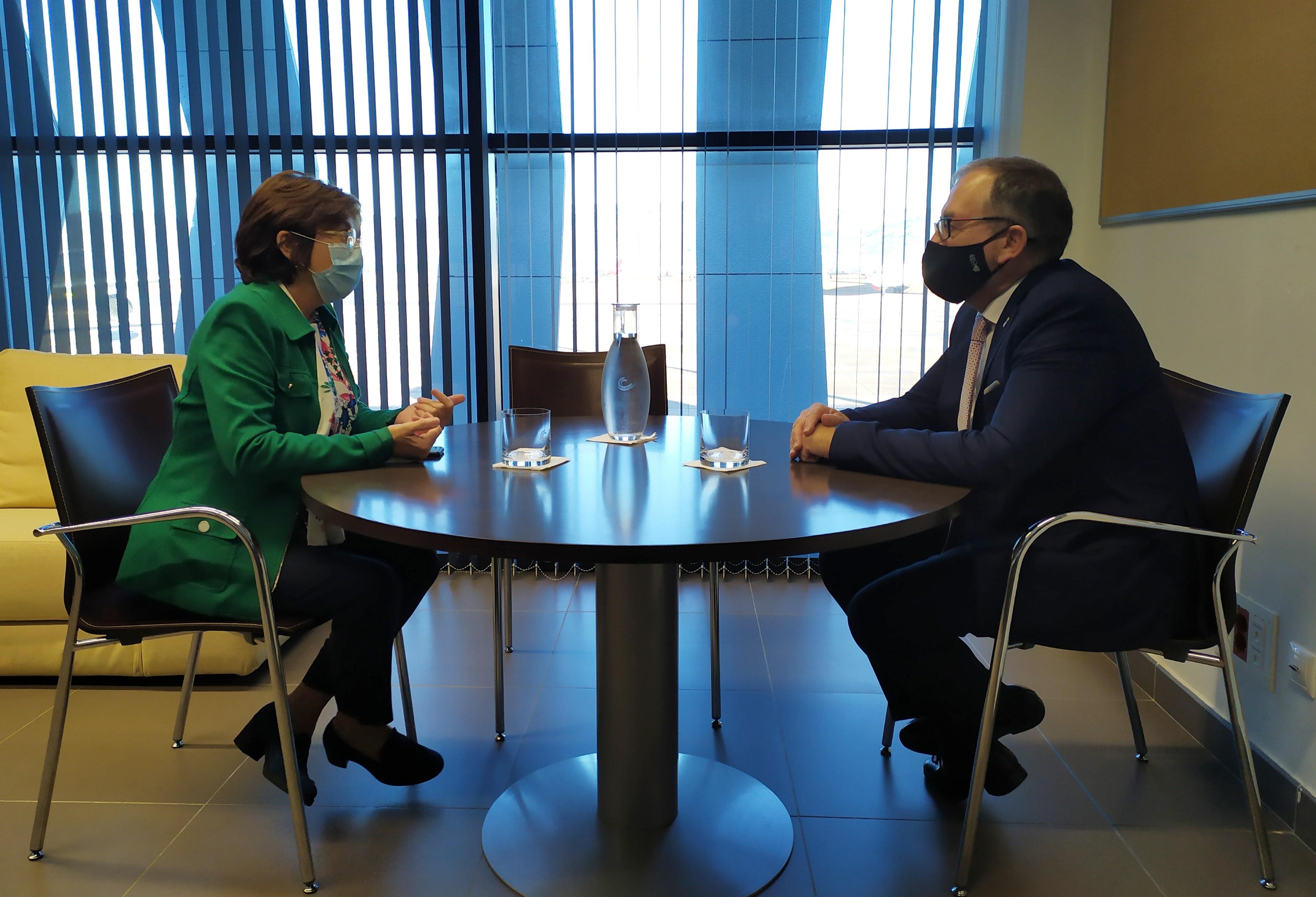 Aerocas y la Diputación de Castellón redoblan su cooperación para potenciar el aeropuerto como dinamizador del territorio
