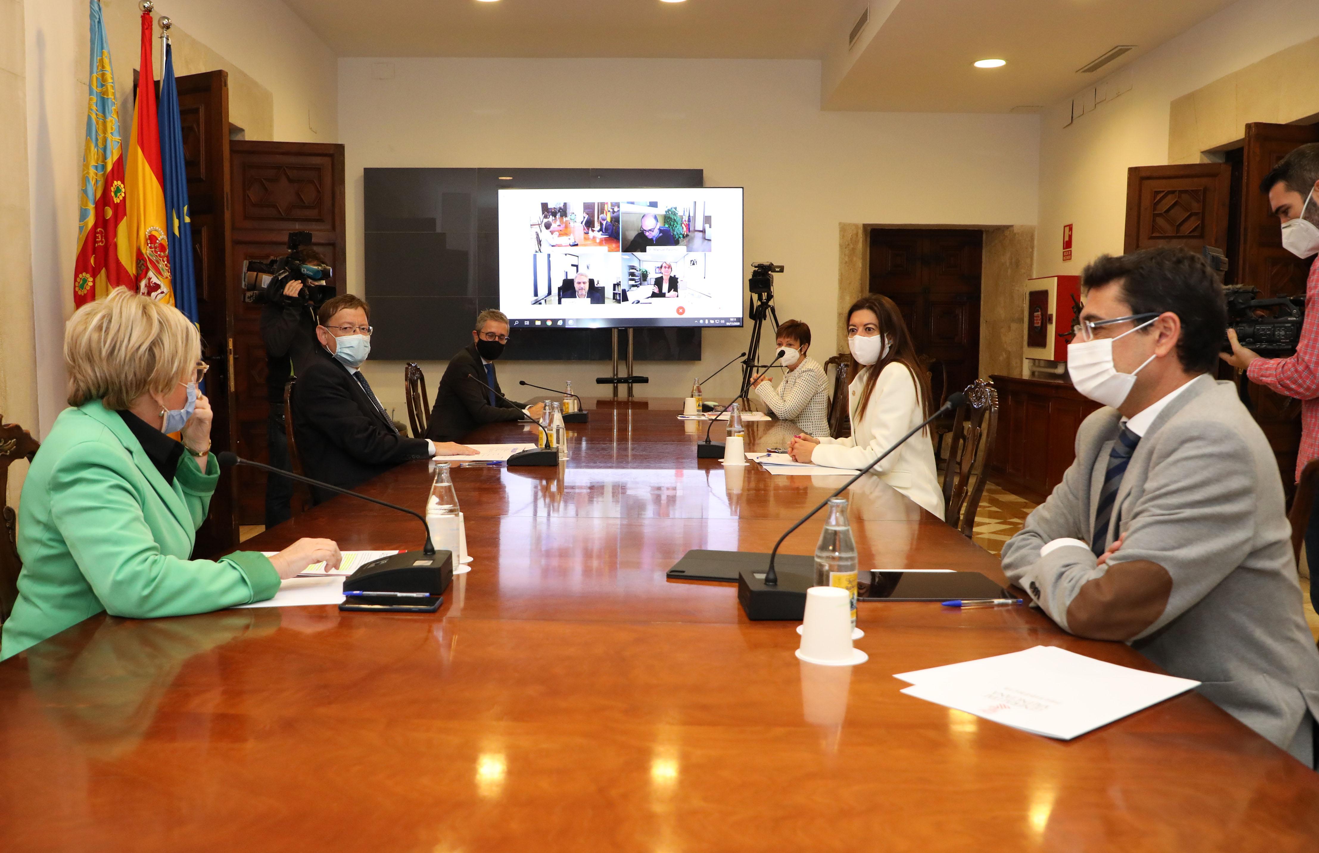 Ximo Puig manté una reunió de coordinació amb les rectores i els rectors de les universitats públiques valencianes per a analitzar les actuacions ...