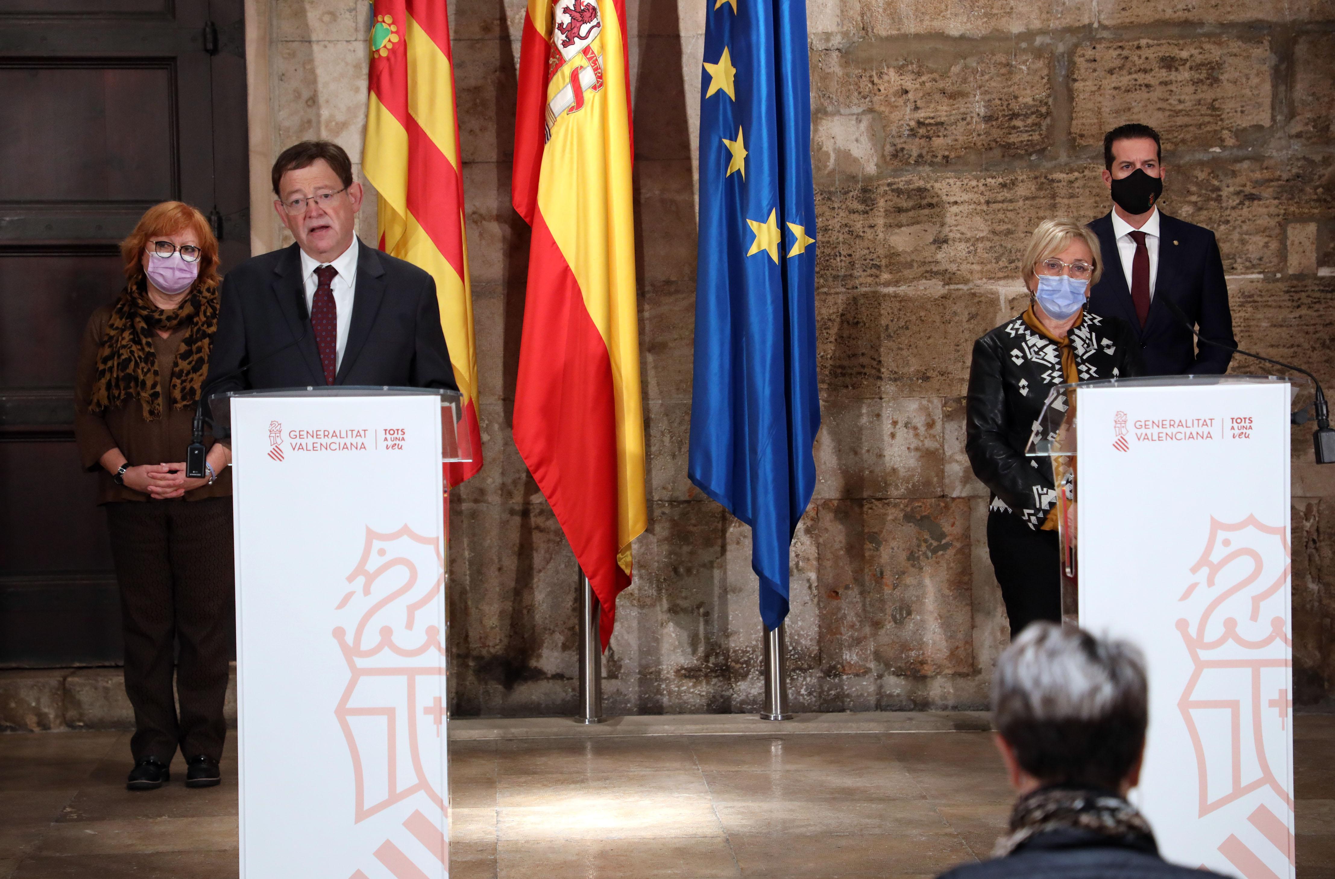 """Ximo Puig anuncia la pròrroga del tancament perimetral de la Comunitat Valenciana i el dels municipis d""""Elda i Petrer, així com noves mesures de l..."""
