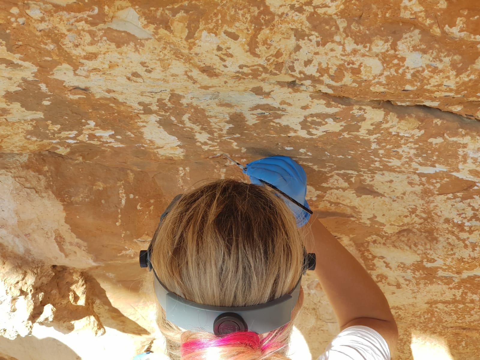 El IVCR+i trabaja en estabilizar las pinturas rupestres de la Cova del Mançano de Xaló