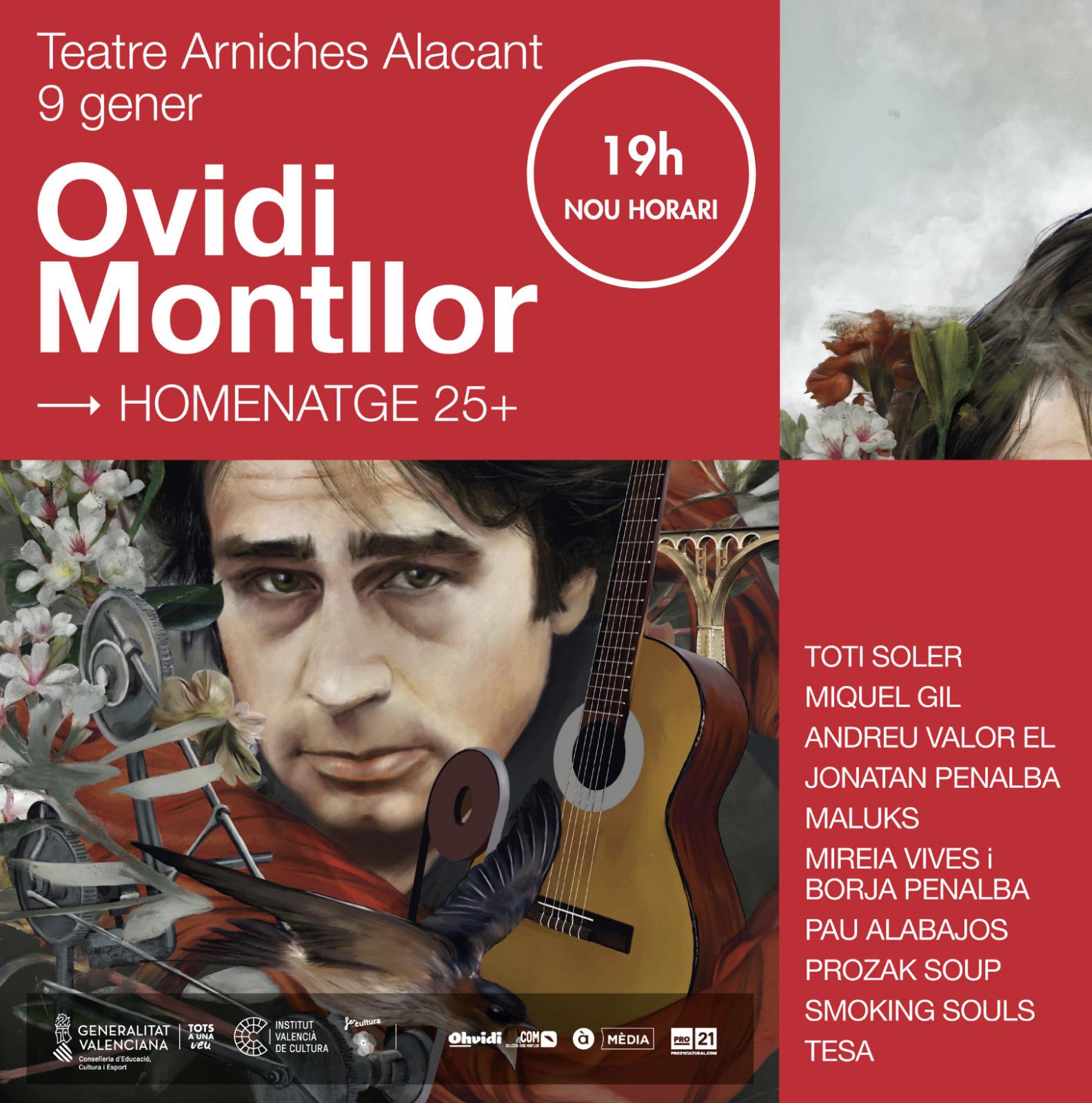 """El tercer concert dels oferits per l""""Institut Valencià de Cultura porta a Alacant l""""homenatge a Ovidi Montllor"""