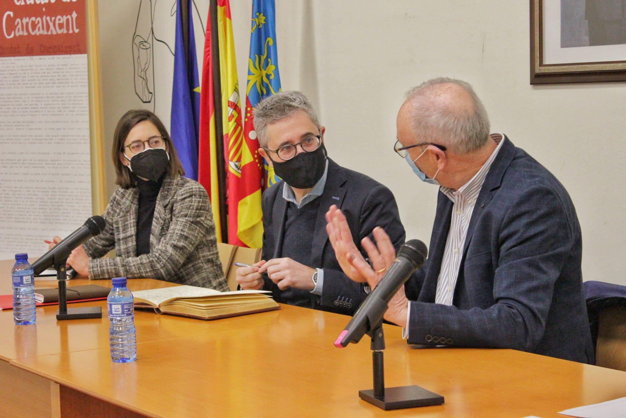 Arcadi España ratifica la voluntad de la Conselleria de colaborar en el proyecto para unir Alzira y Carcaixent de forma segura y sostenible a trav...