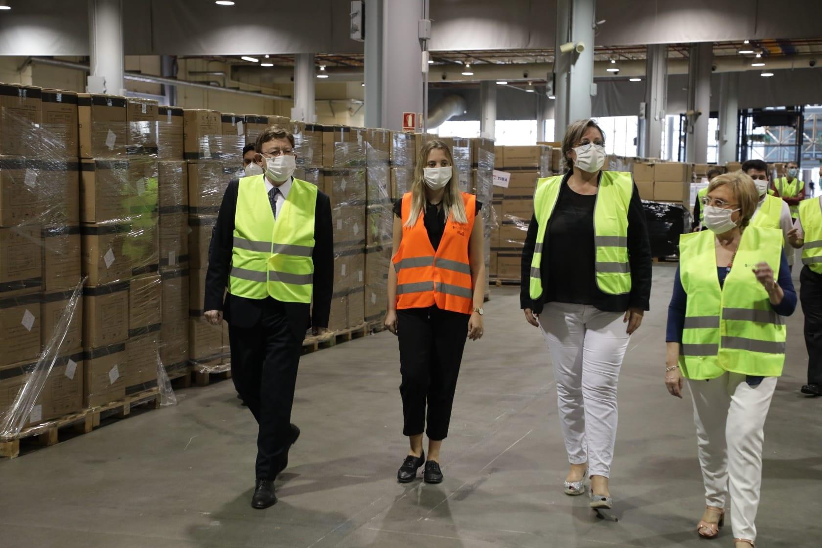 Un total de 93 empreses, el 28 % de la Comunitat, garantiran el subministrament de la reserva estratègica de material sanitari de la Generalitat