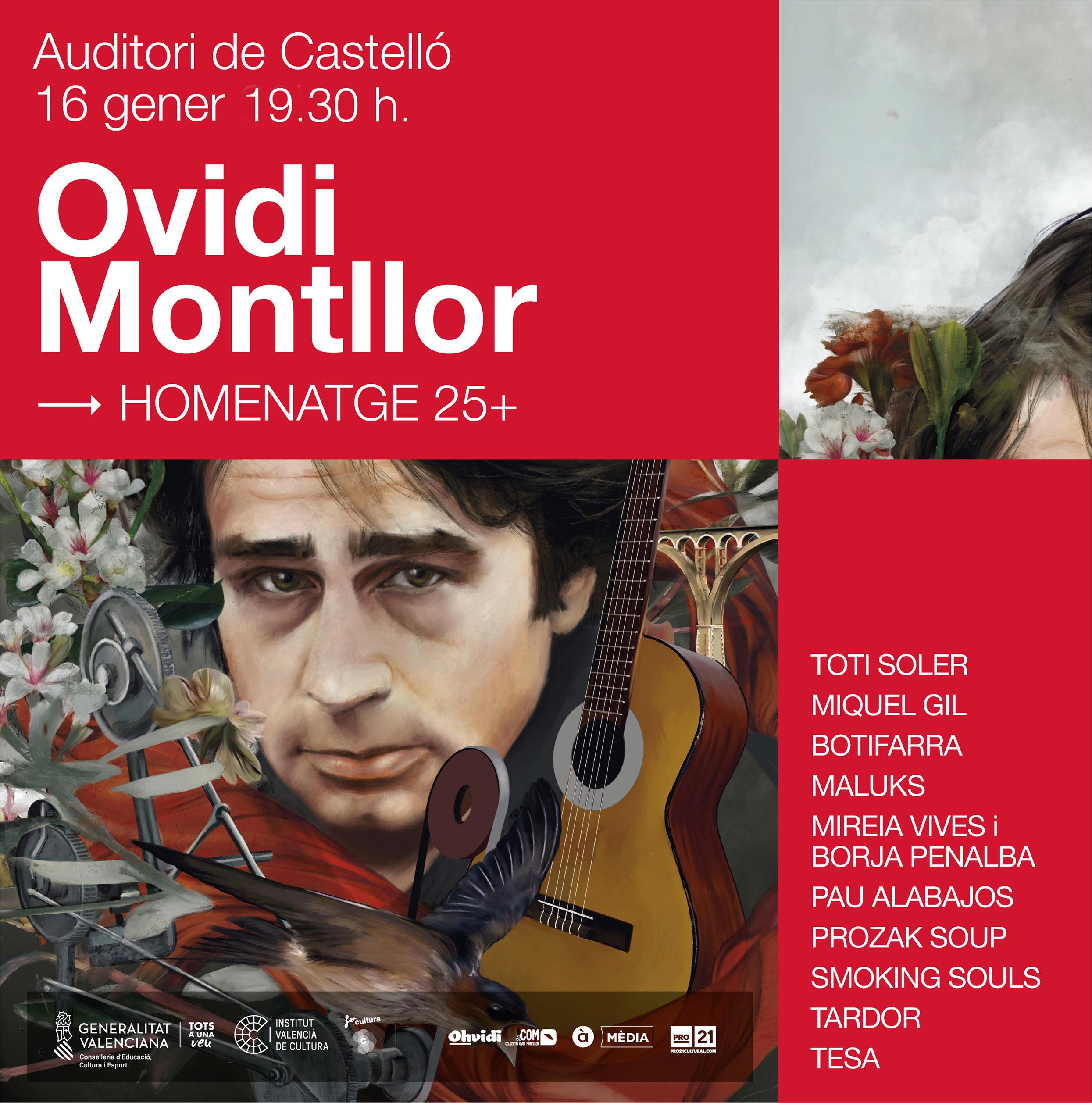 """El quart concert dels oferits per l""""Institut Valencià de Cultura porta a Castelló l""""homenatge a Ovidi Montllor"""