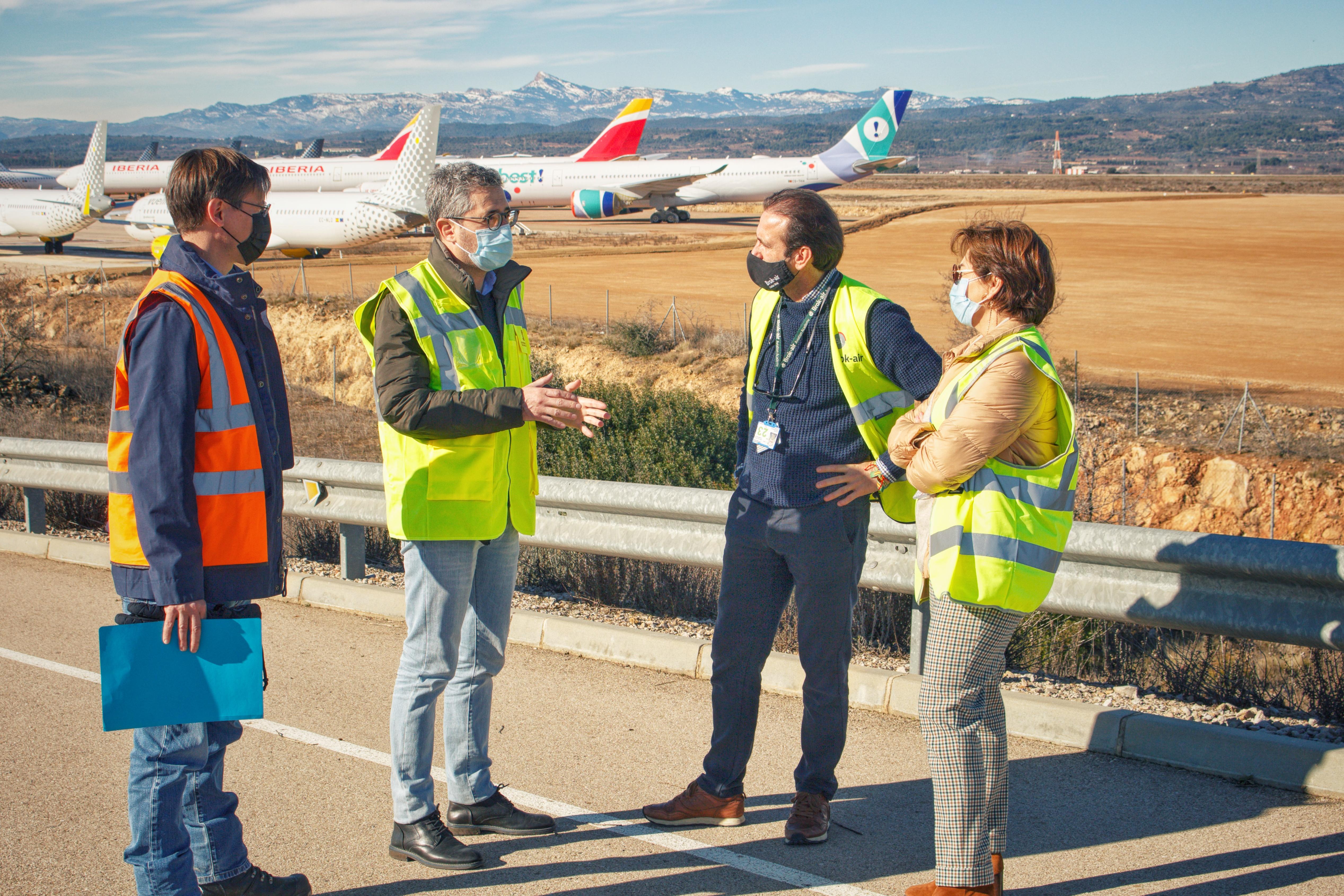 """L""""aeroport de Castelló completa amb la iniciativa privada la nova zona d""""estacionament i ultima el centre de manteniment d""""avions"""
