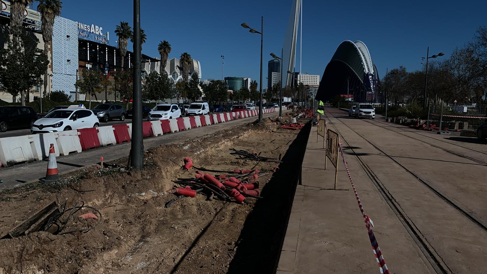La Generalitat realiza obras en la parada de Ciutat de les Ciències de la Línea 10 de Metrovalencia para agilizar la circulación de los tranvías