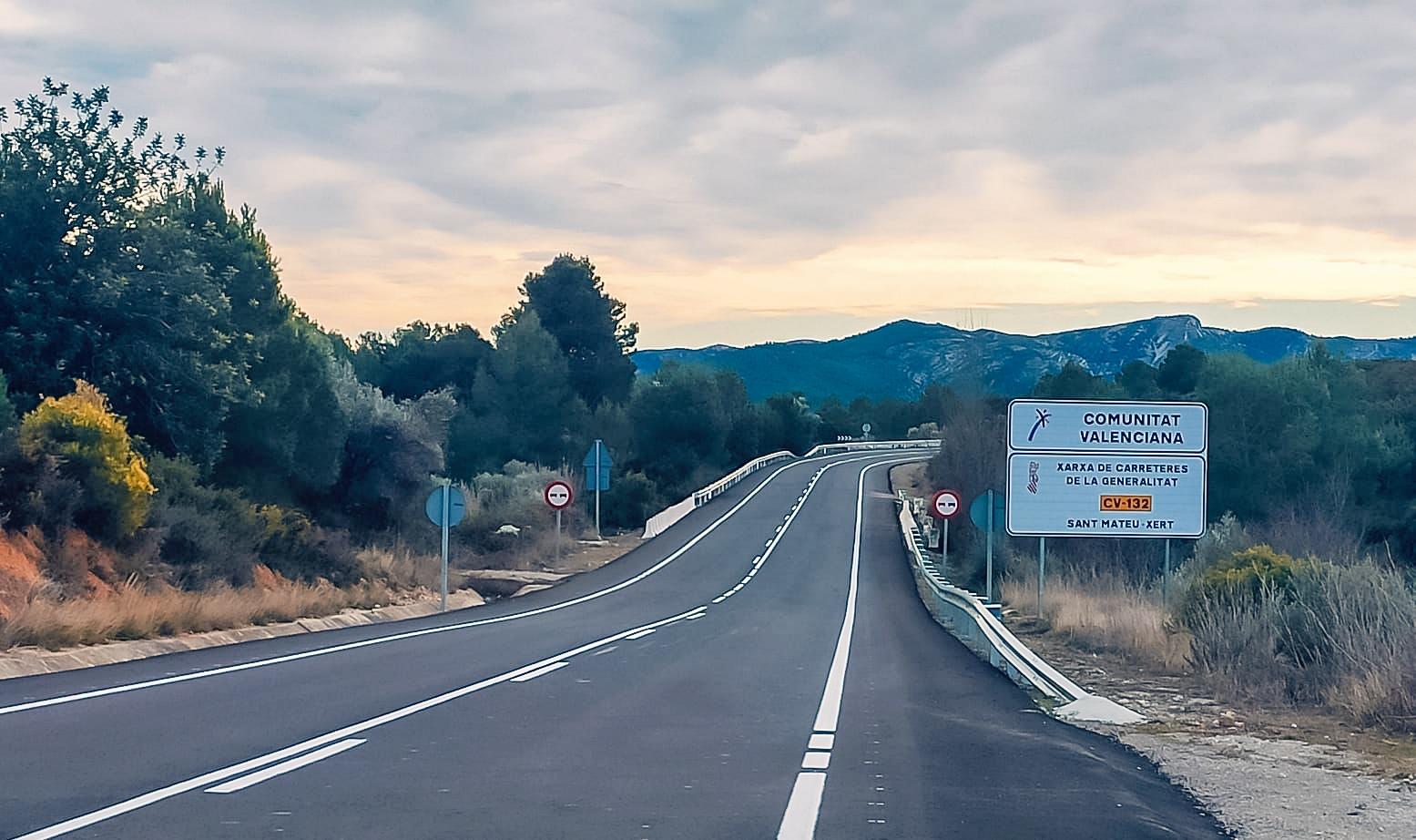 La Generalitat invierte 1,6 millones de euros en la mejora de la seguridad vial de las carreteras de la comarca del Baix Maestrat